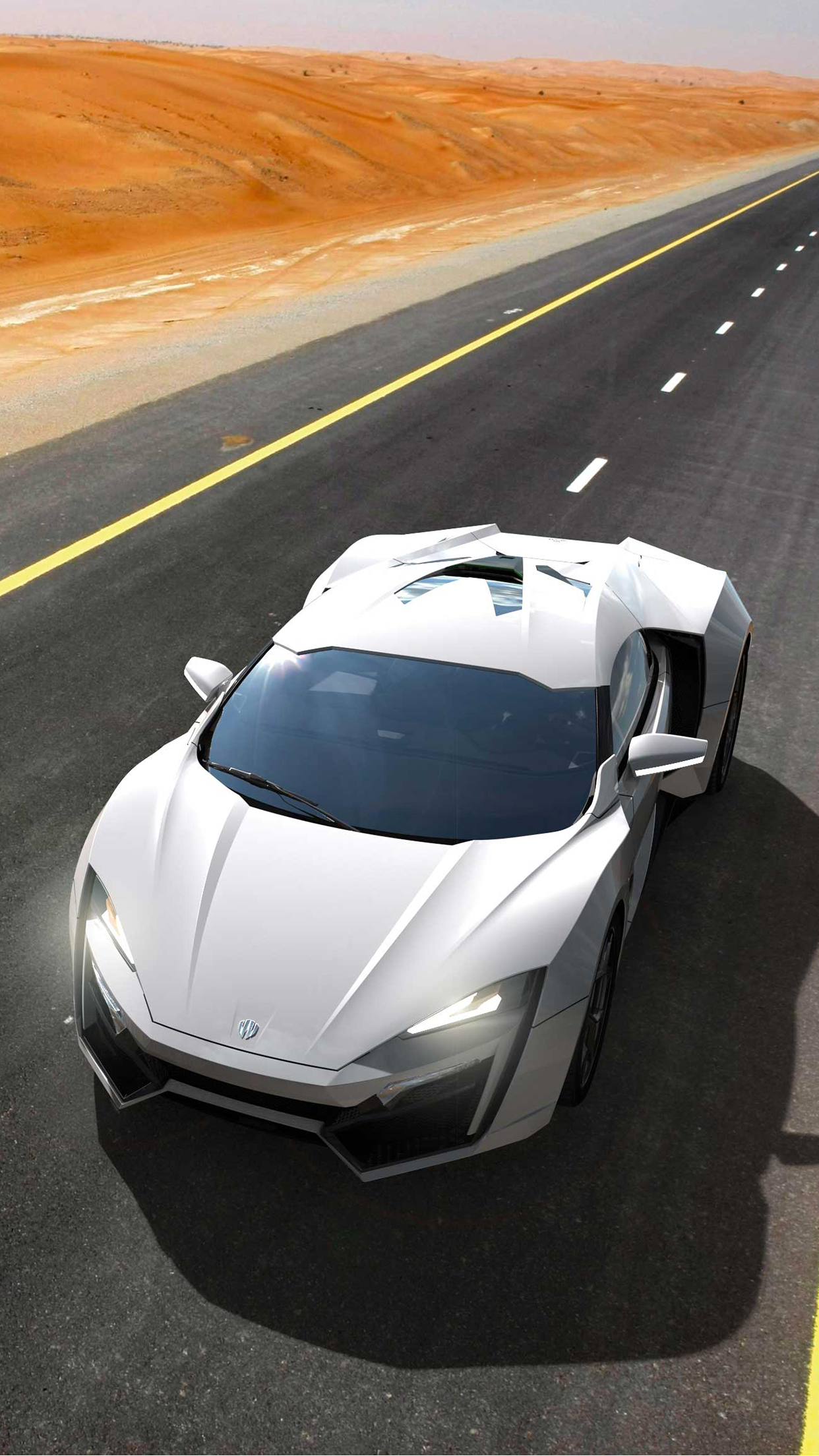 Lykan Hypersport Desert iPhone 3Wallpapers Parallax Lykan Hypersport Desert