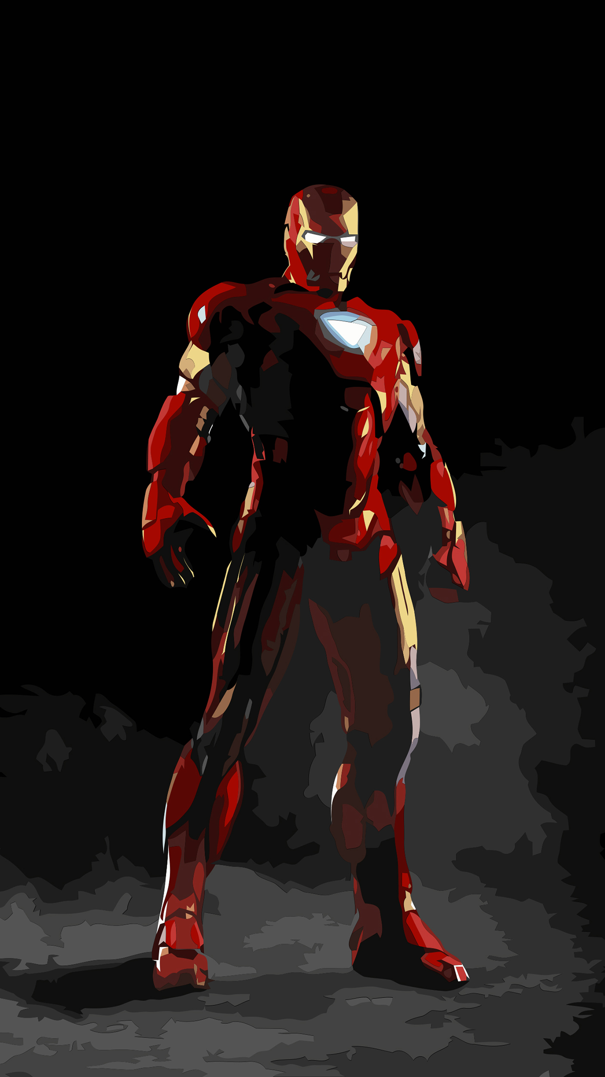 Iron Man Draw iPhone 3Wallpapers Parallax Les 3 Wallpapers iPhone du jour (19/05/2015)