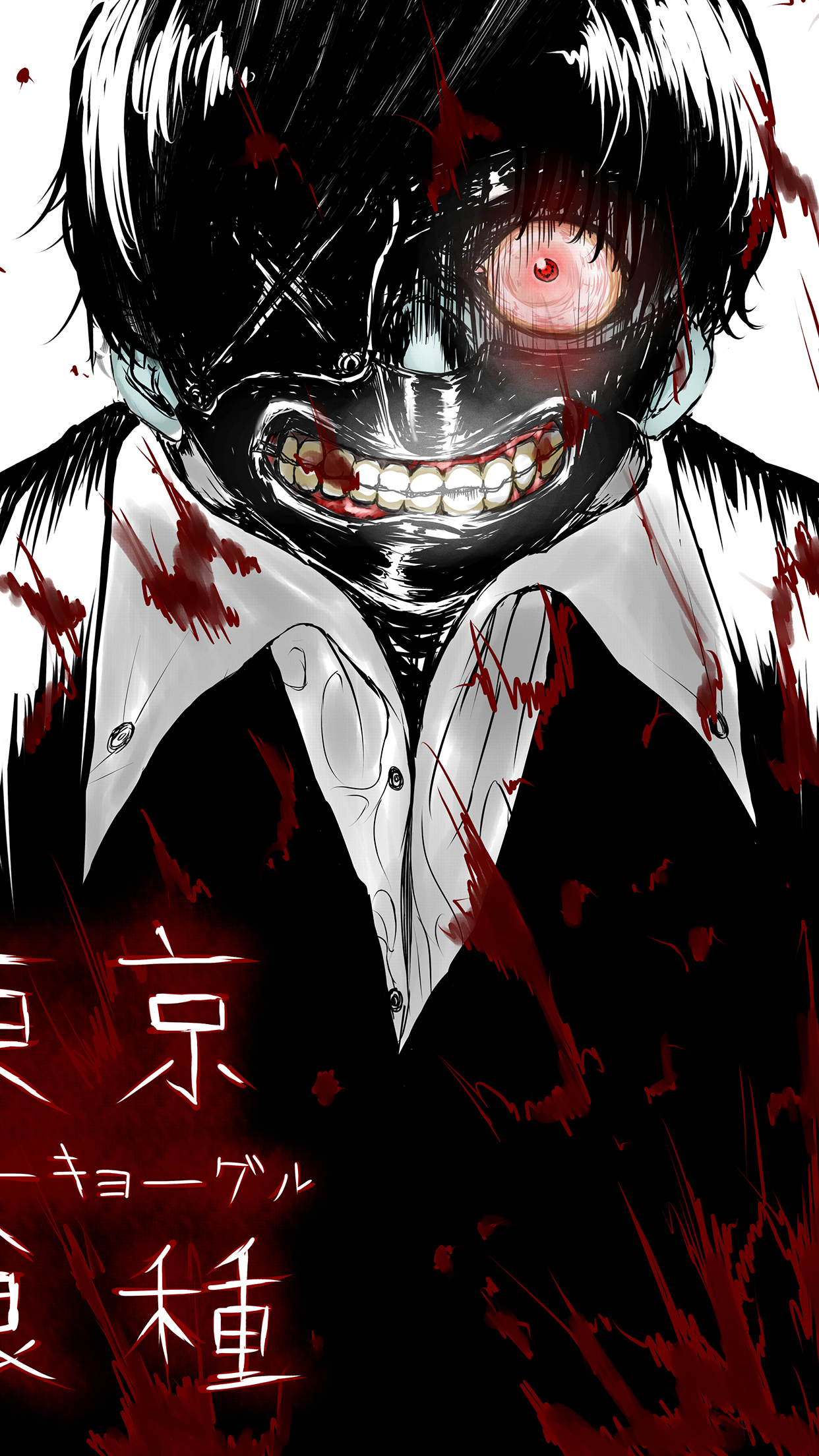 stylish tokyo ghoul iphone wallpaper