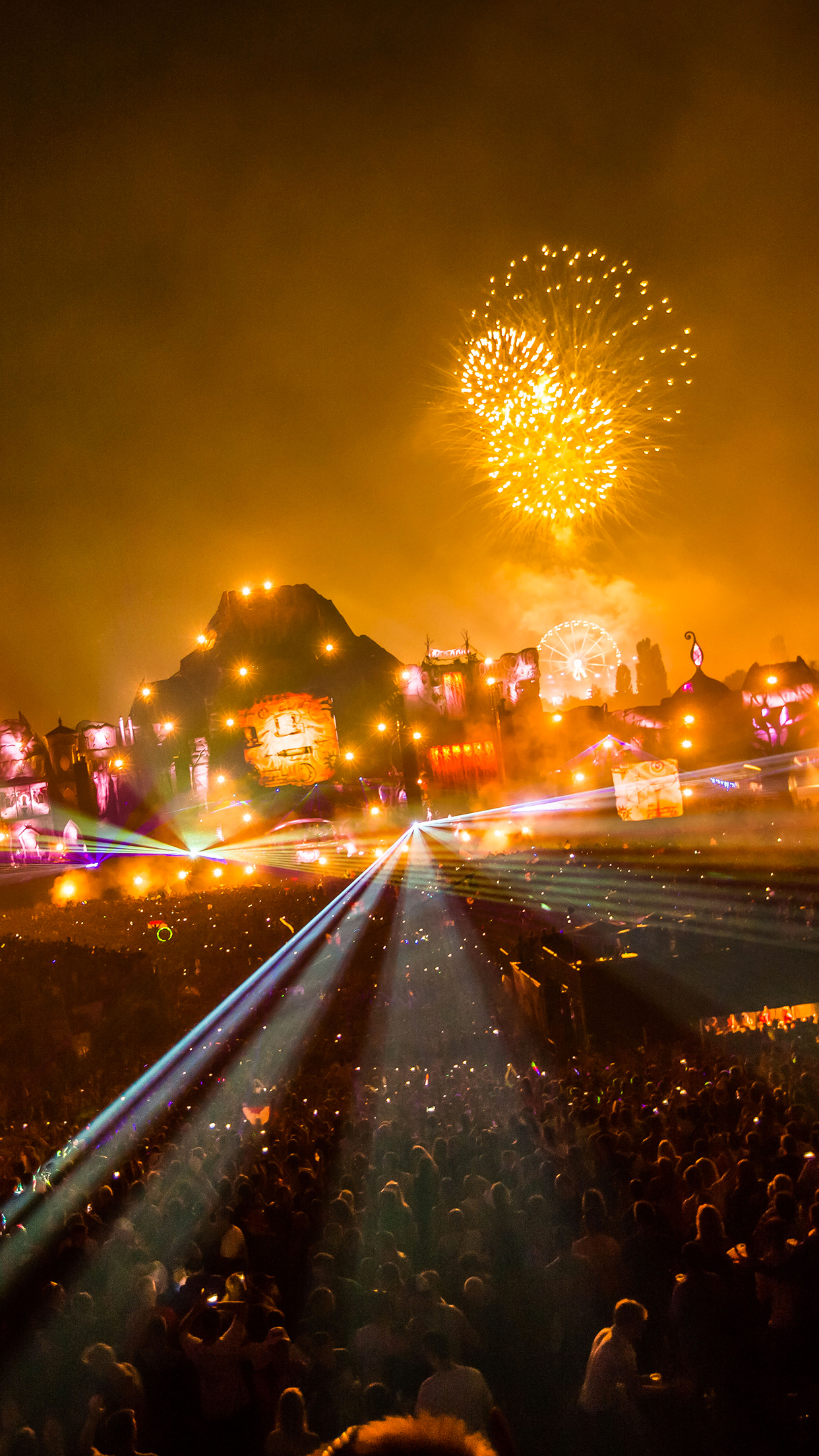 Tomorrowland 2013 Night Wallpaper for iPhone X, 8, 7, 6 ...