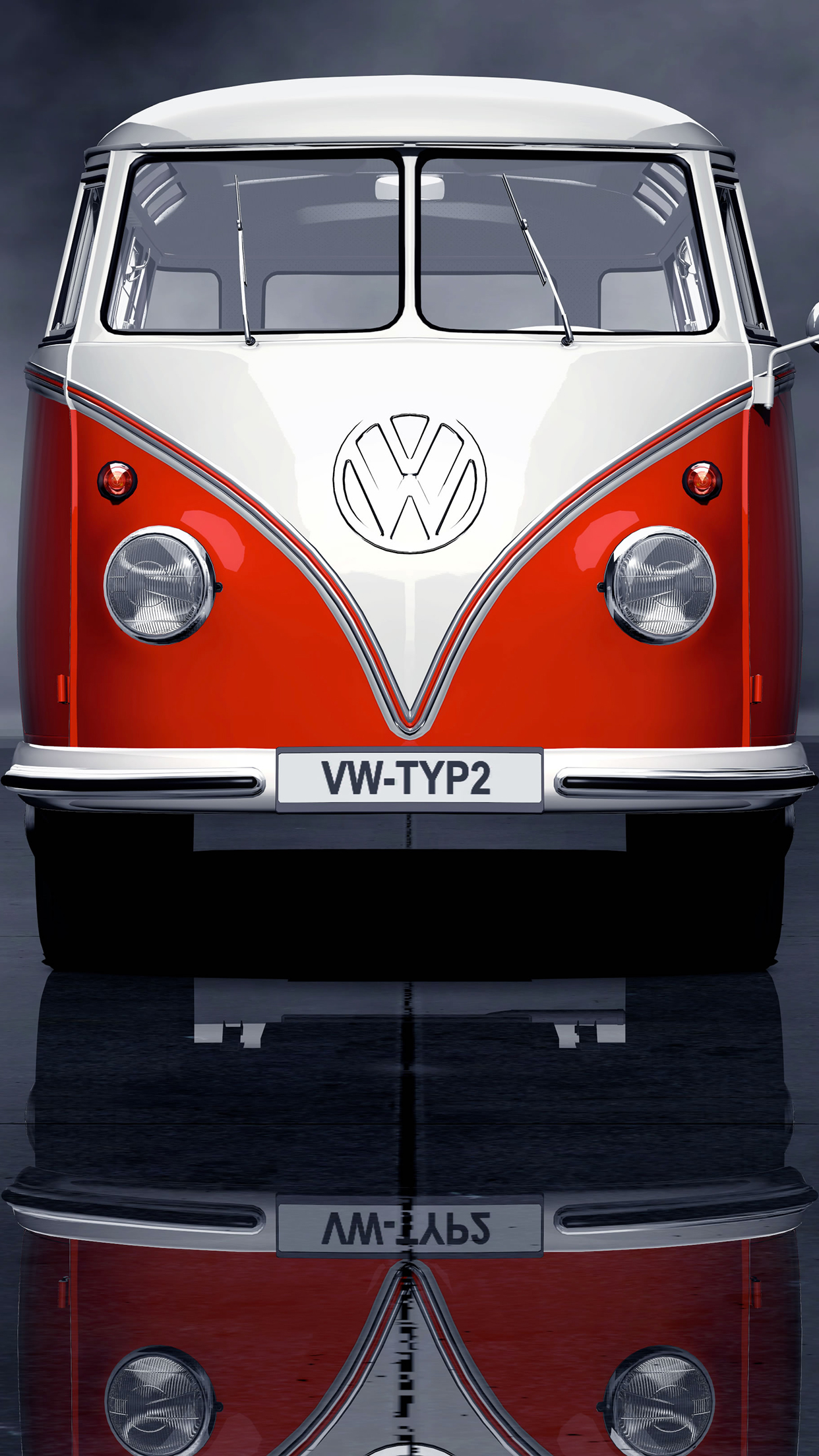 Volkswagen Combi Wallpaper For Iphone X 8 7 6 Free