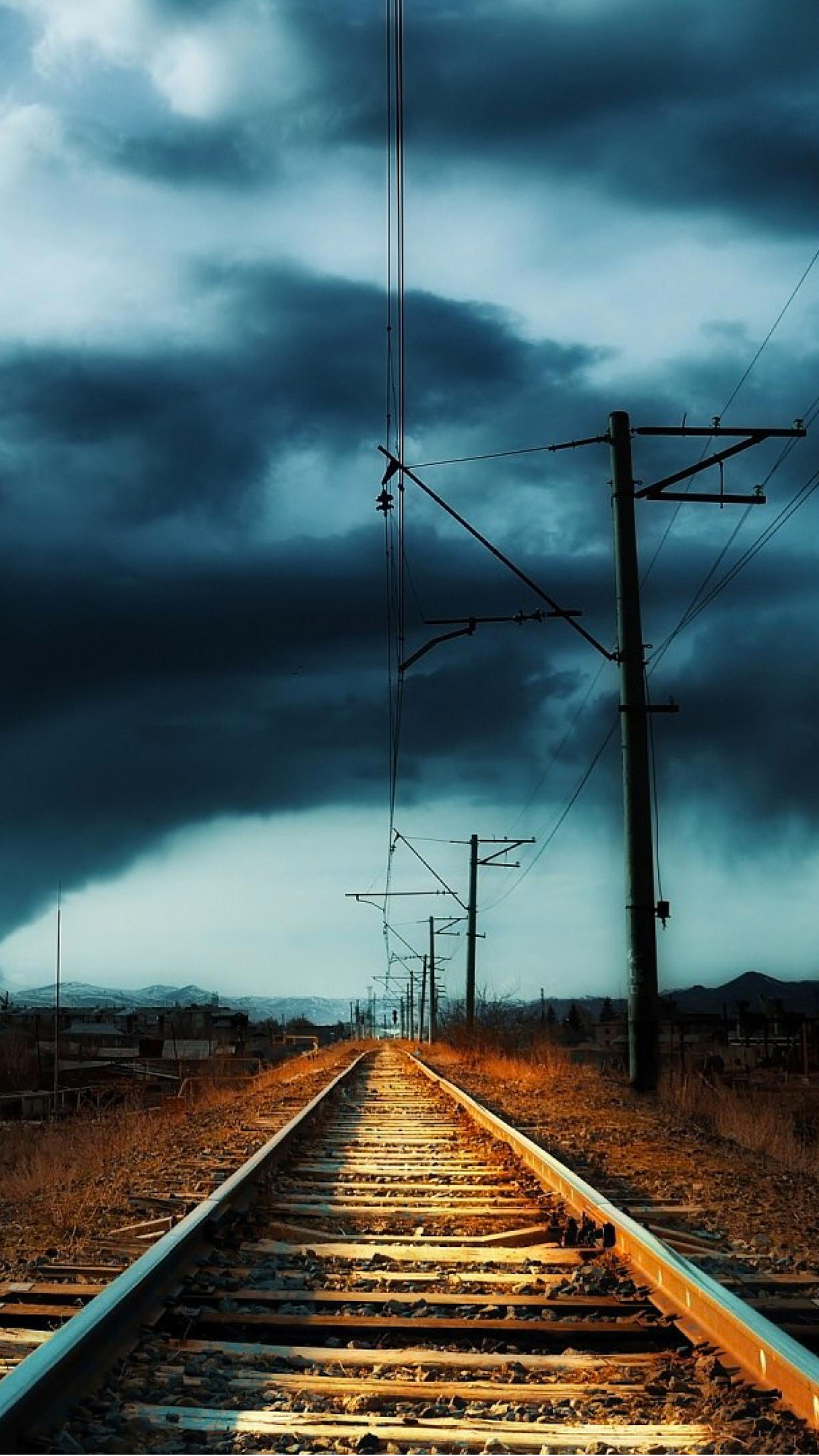 Railway Vintage Wallpaper For Iphone X 8 7 6 Free