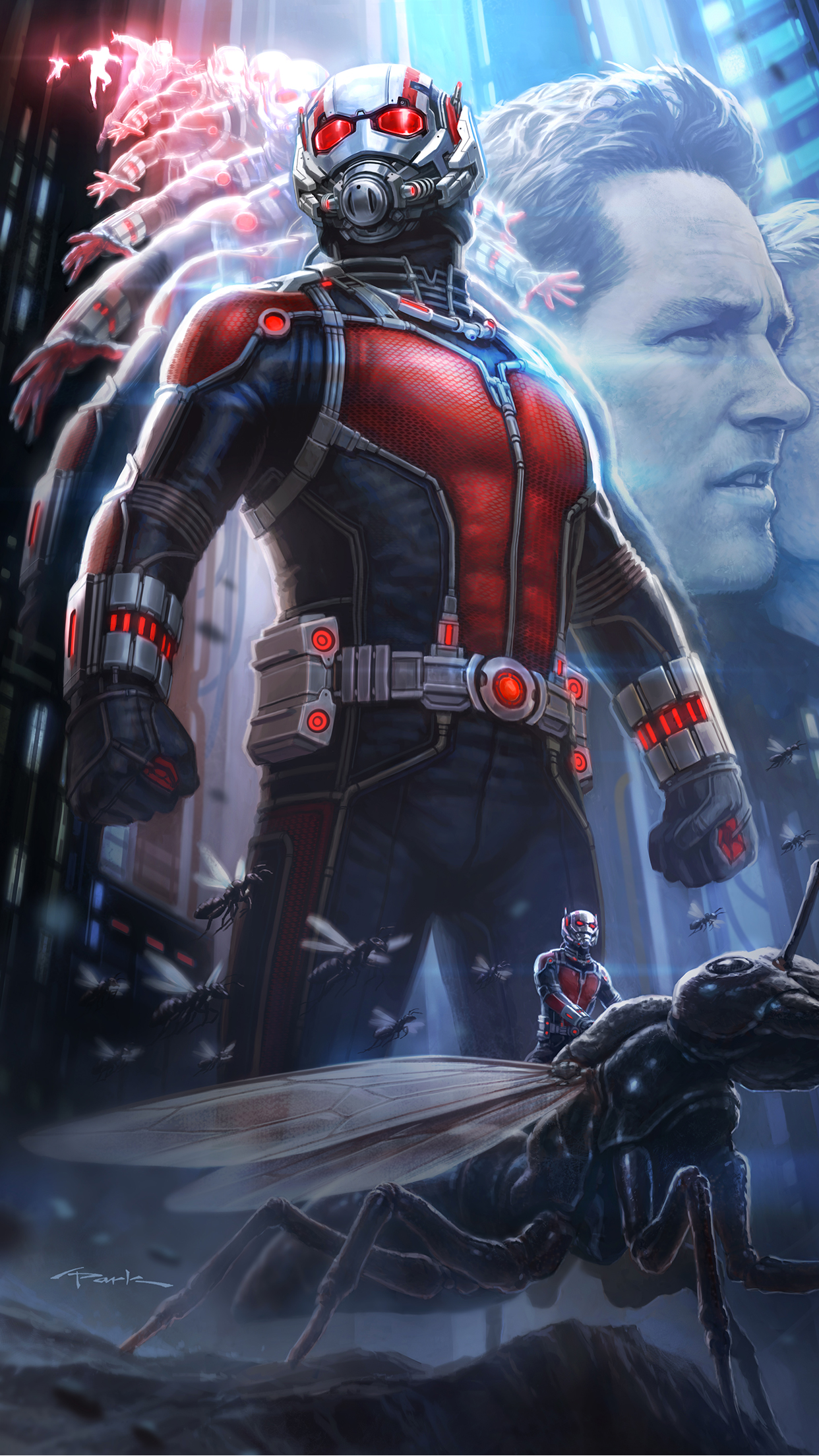 Ant Man Poster iPhone 3Wallpapers Parallax Les 3 Wallpapers iPhone du jour (18/07/2015)