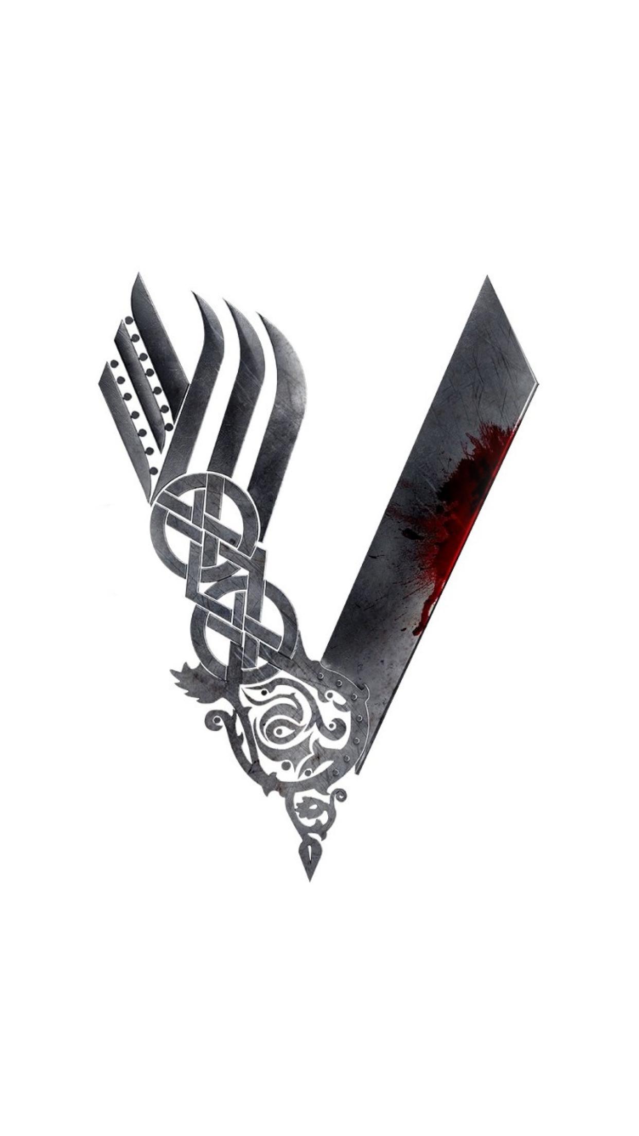 Vikings Logo 3Wallpapers iPhone Parallax Vikings Logo