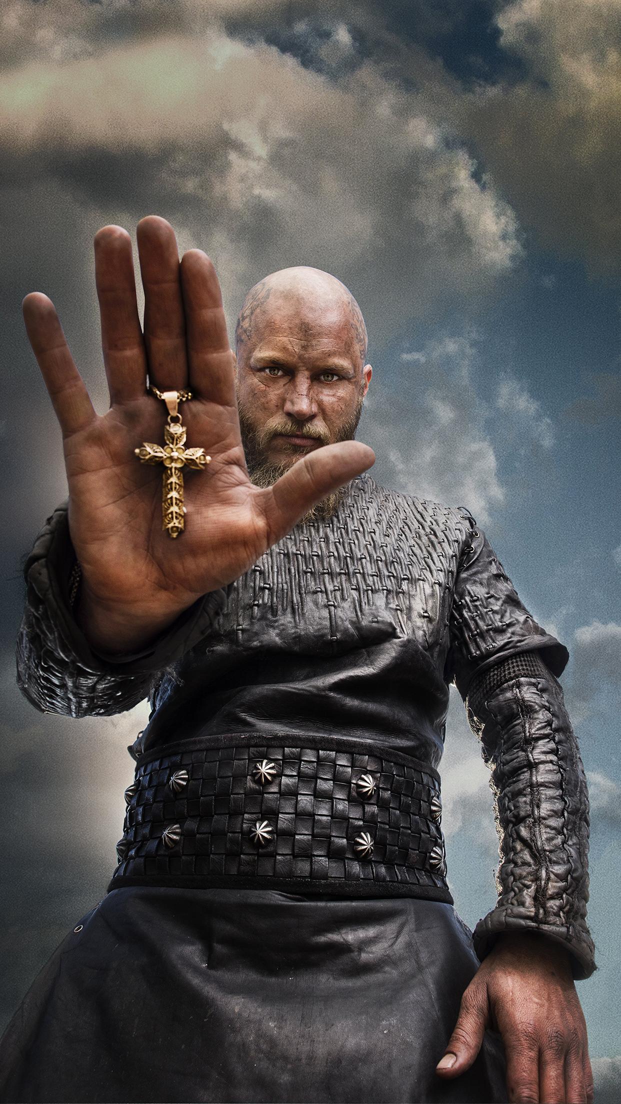 Vikings Ragnar Cross Wallpapers Iphone Parallax