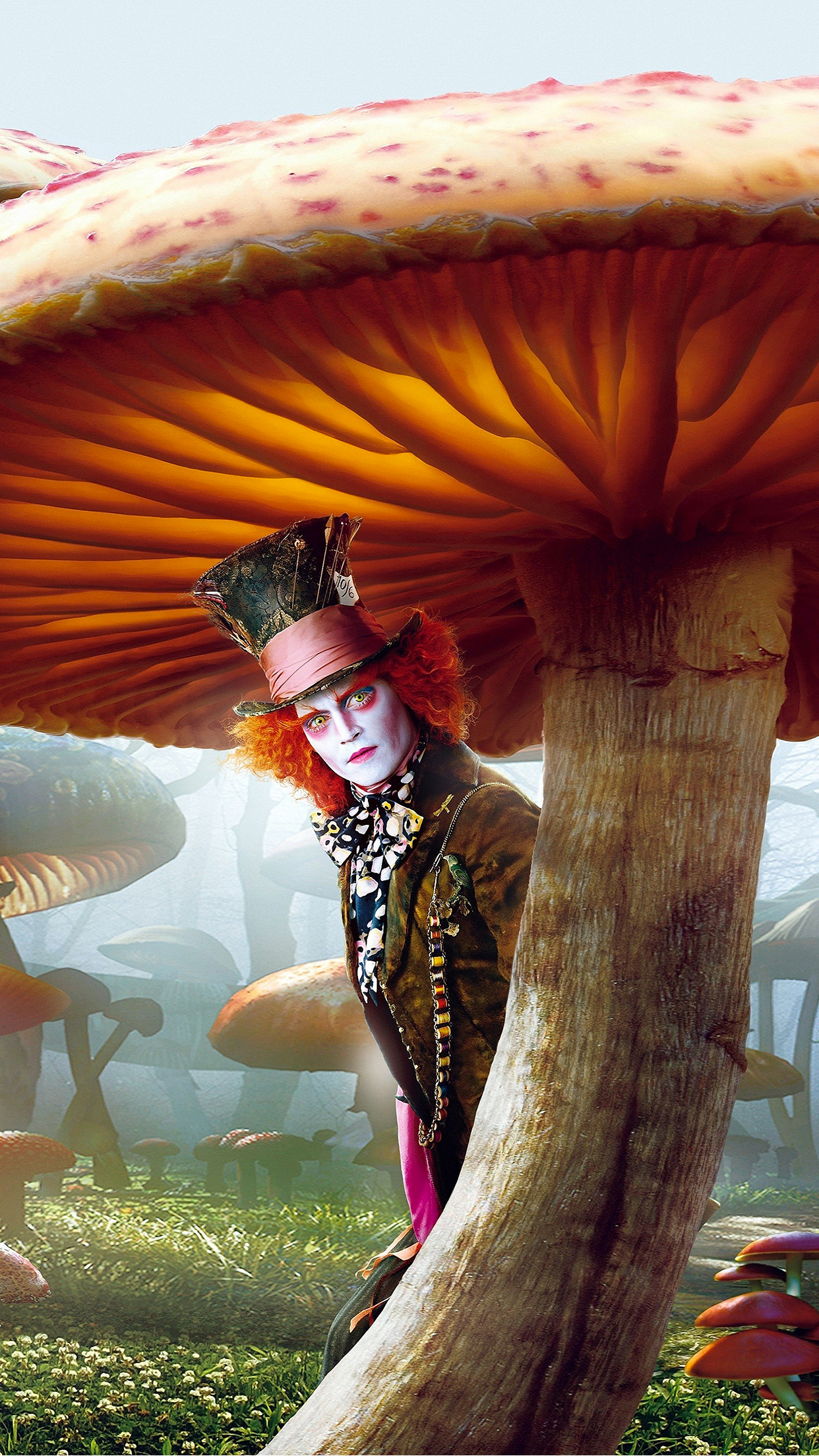 Alice in Wonderland depp mad hatter Wallpaper for iPhone X ...