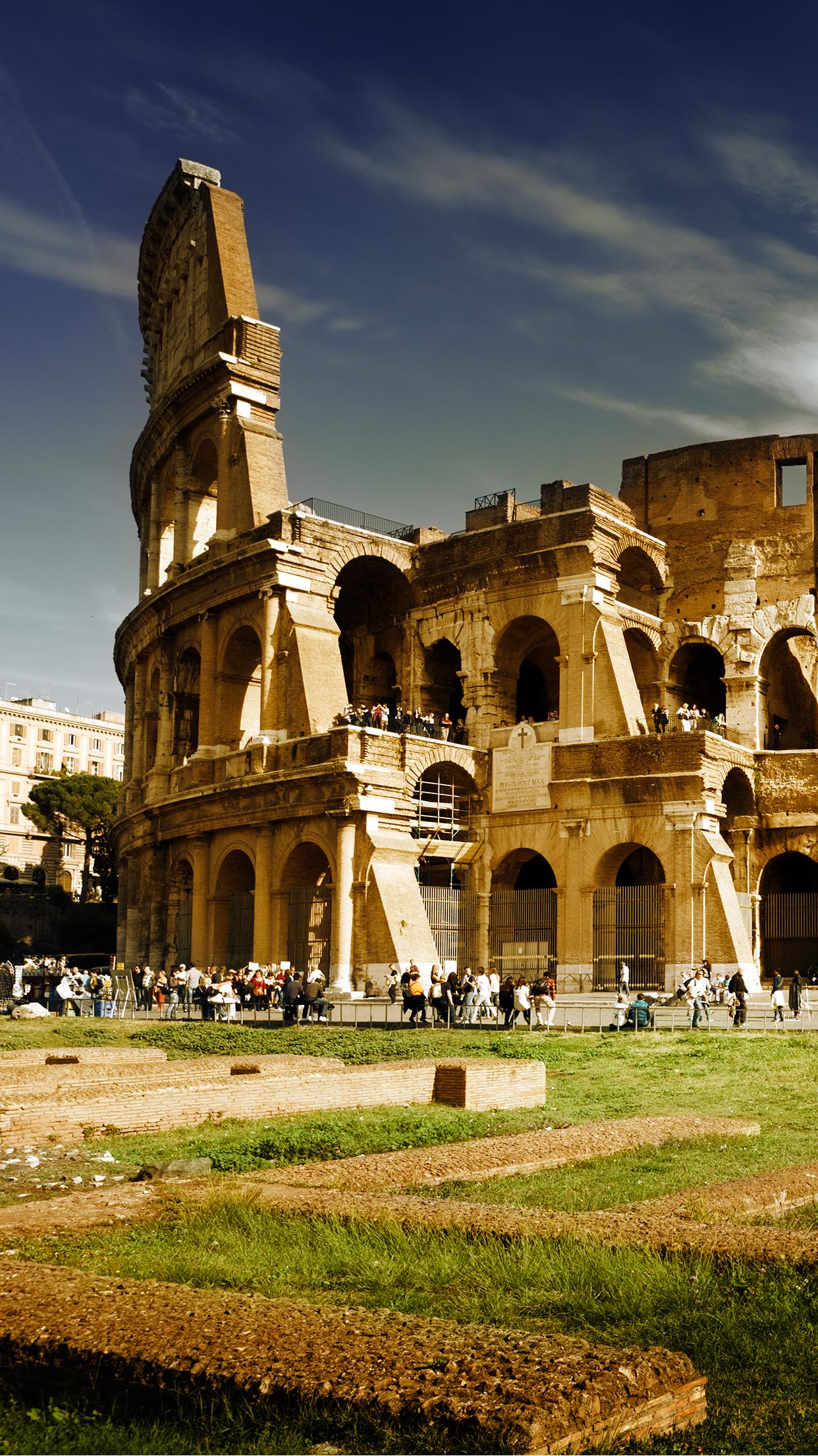 Italia Colosseum 3Wallpapers Parallax iPhone Italia Colosseum