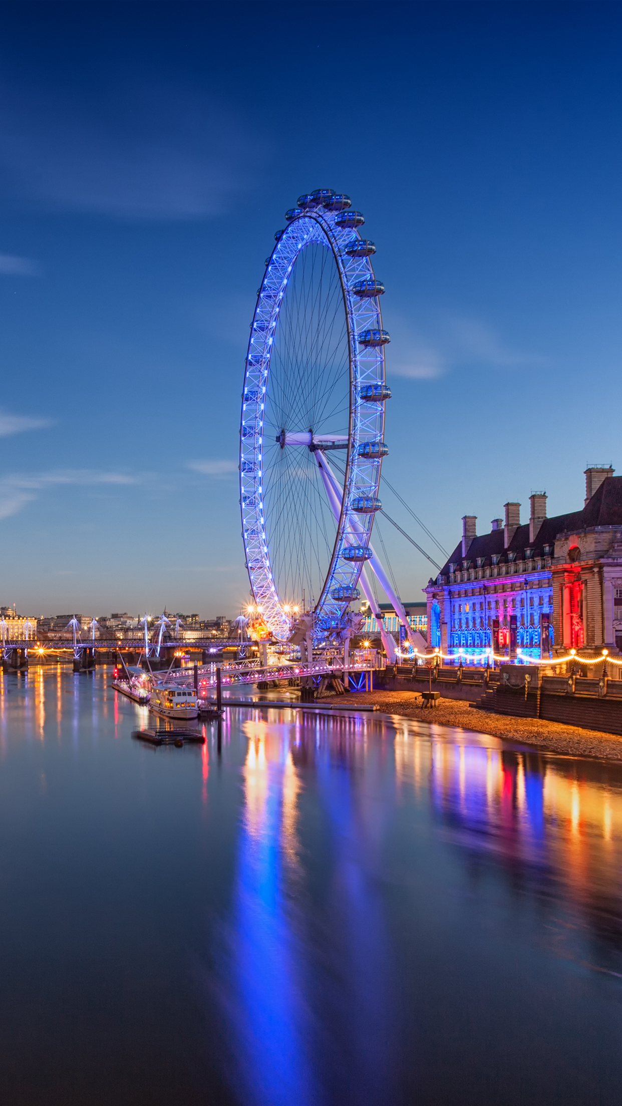 London Eye Wallpaper For Iphone X 8 7 6 Free Download On