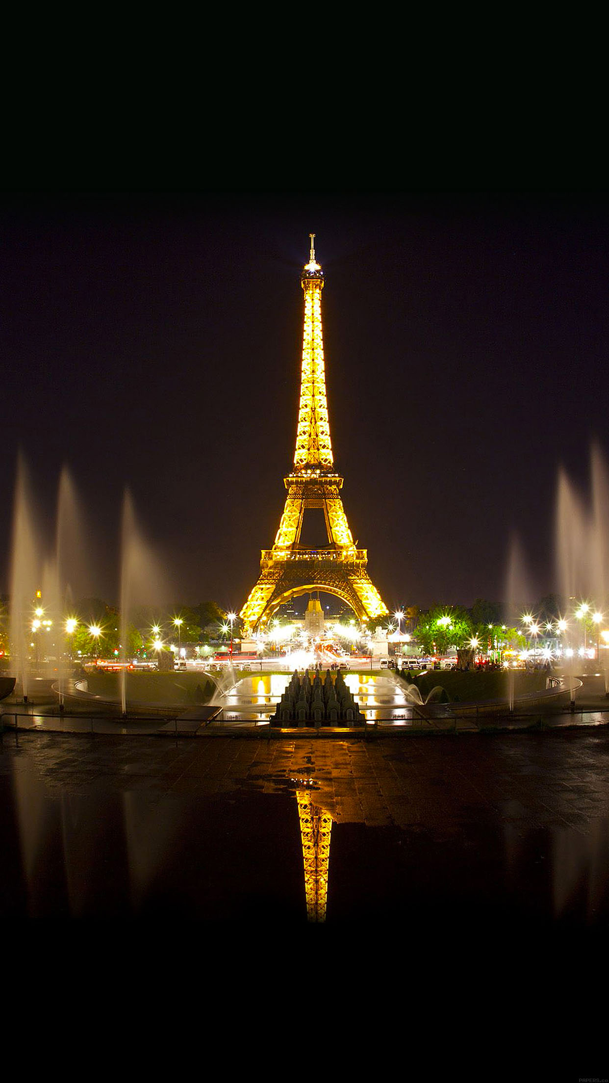 Paris By Night Eiffel Tower Wallpaper For Iphone X 8 7 6 Free