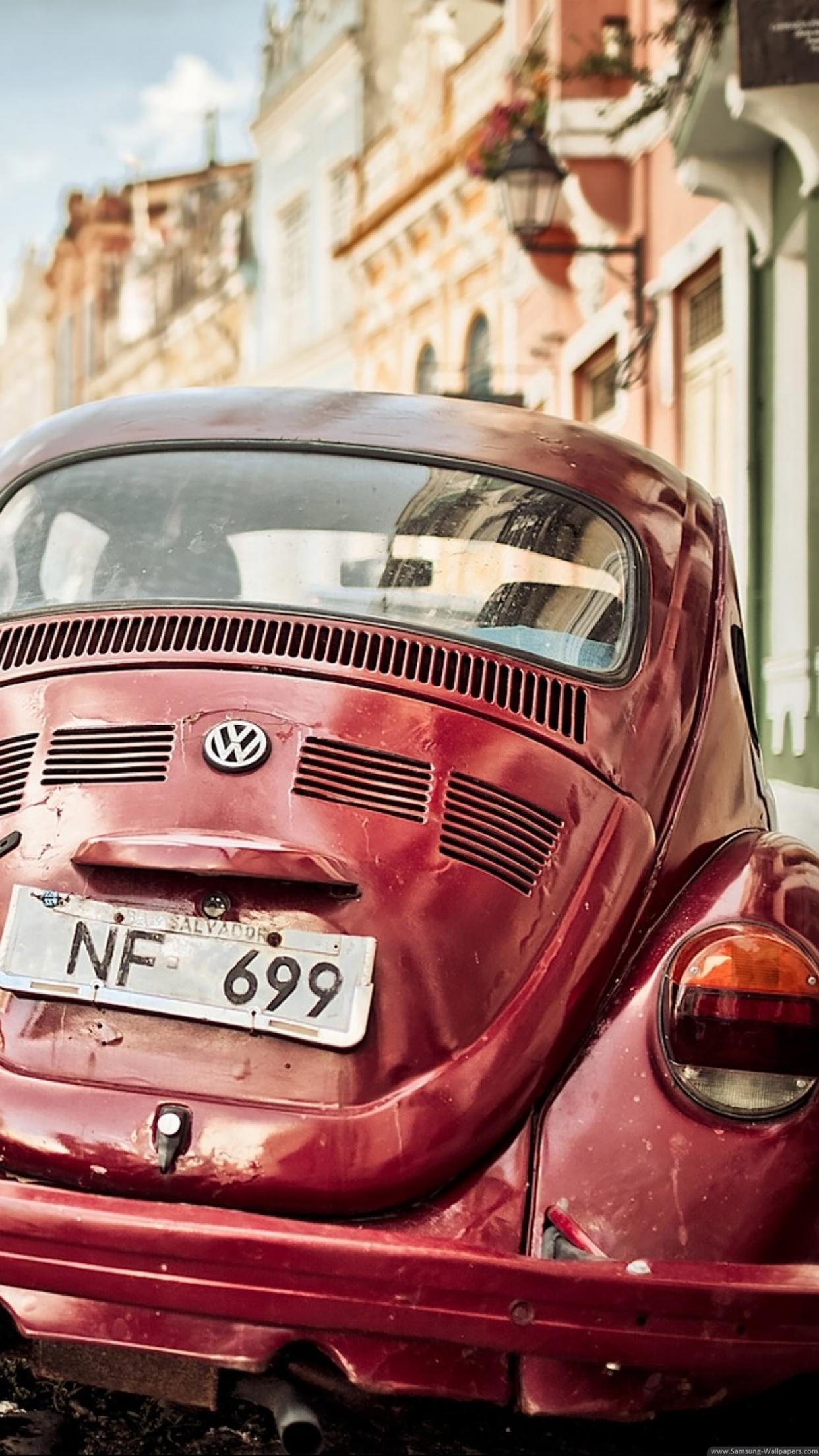 Vintage Cars Volkswagen Beetle 3Wallpapers iPhone Parallax Vintage Cars Volkswagen Beetle