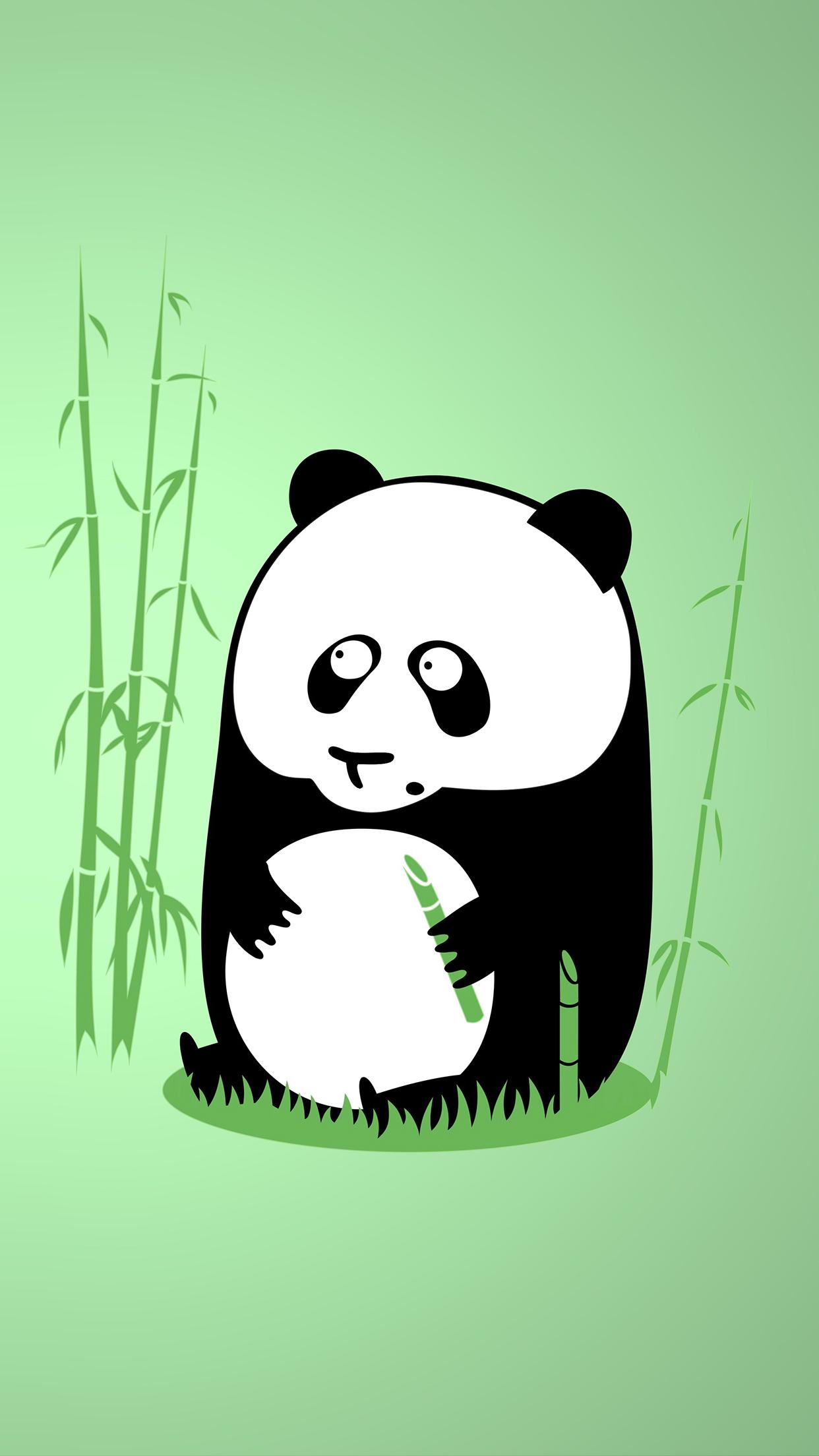 Panda art 3Wallpapers iPhone Parallax Panda art