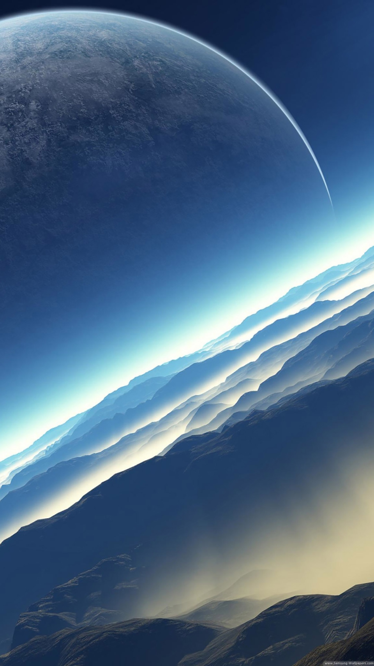 Science fiction exoplanet 3Wallpapers iPhone Parallax Science fiction exoplanet