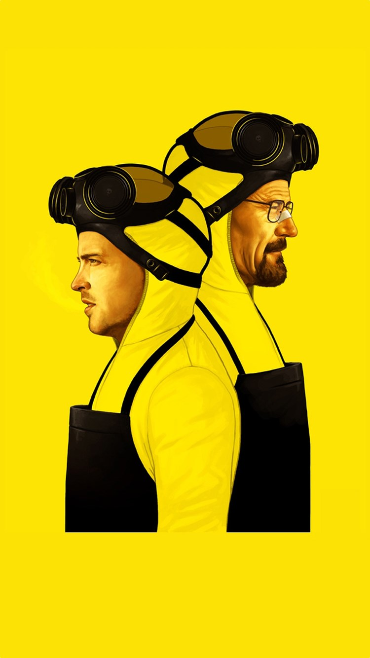 breaking bad yellows mans 3Wallpapers iPhone Parallax Breaking Bad Yellows Mans