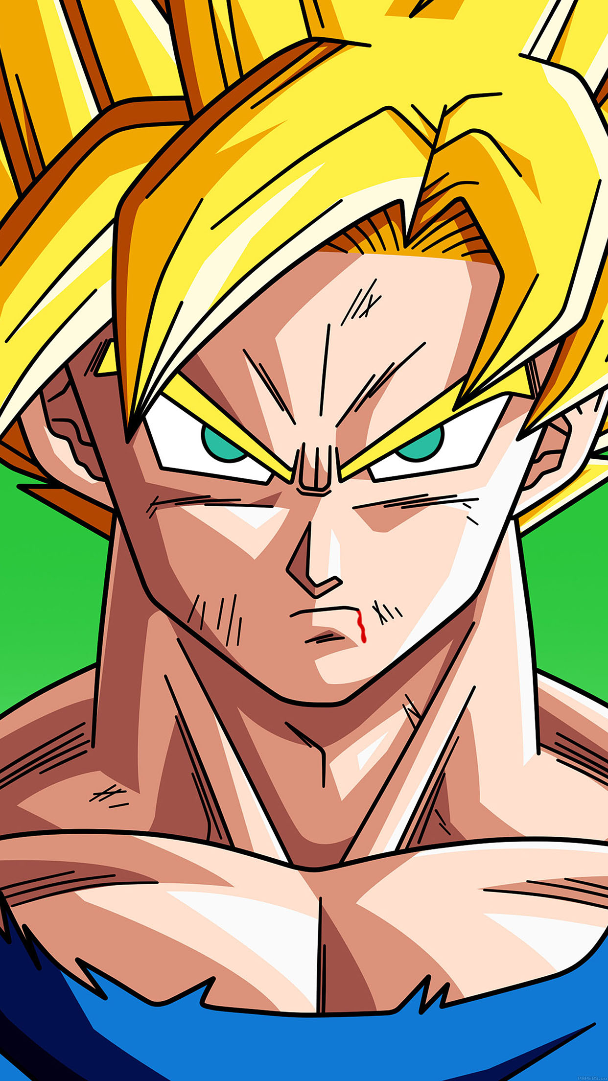 wallpaper hd iphone dragon ball goku ssj free download