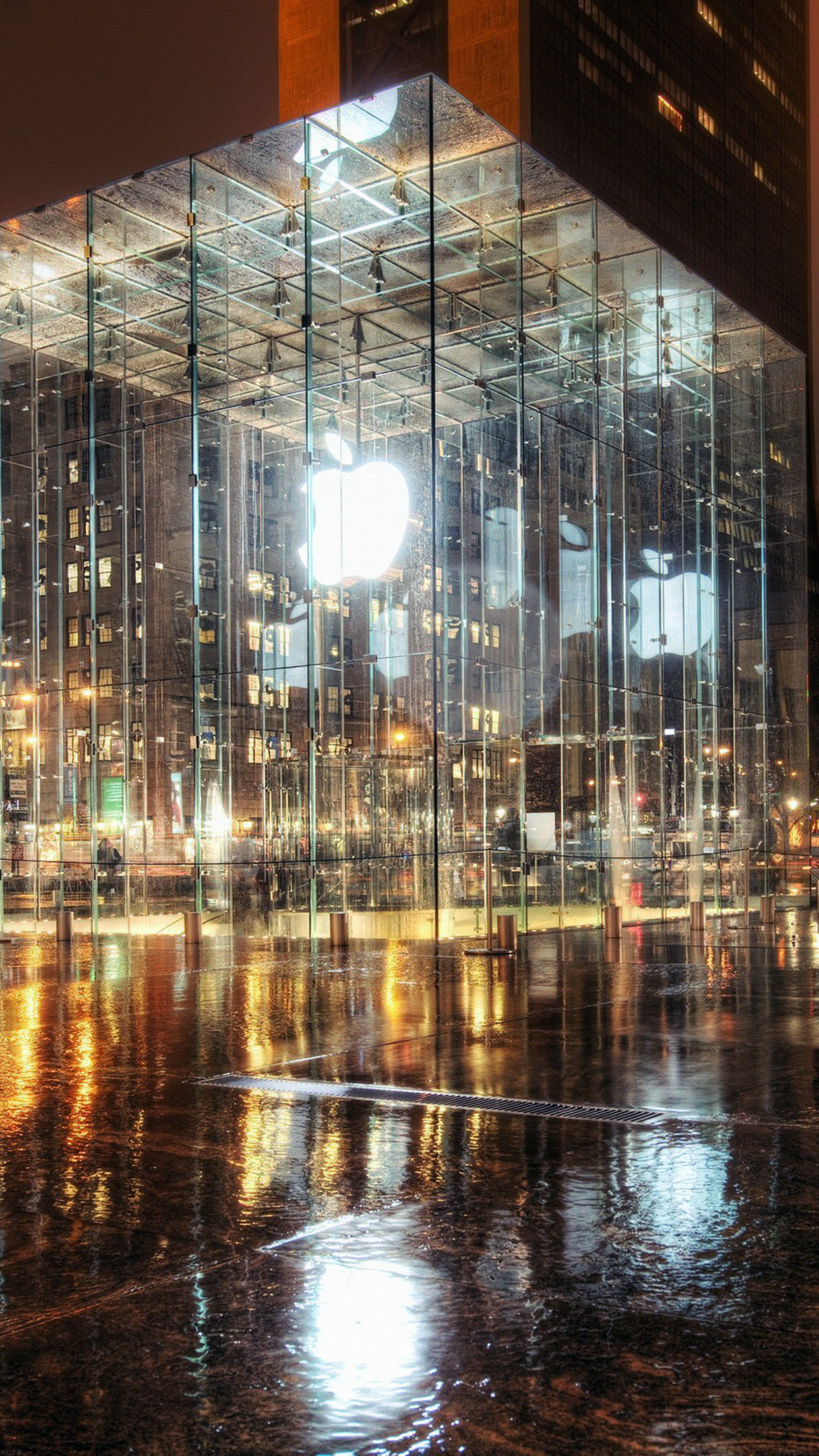 New York Apple Store Wallpaper For Iphone X 8 7 6 Free