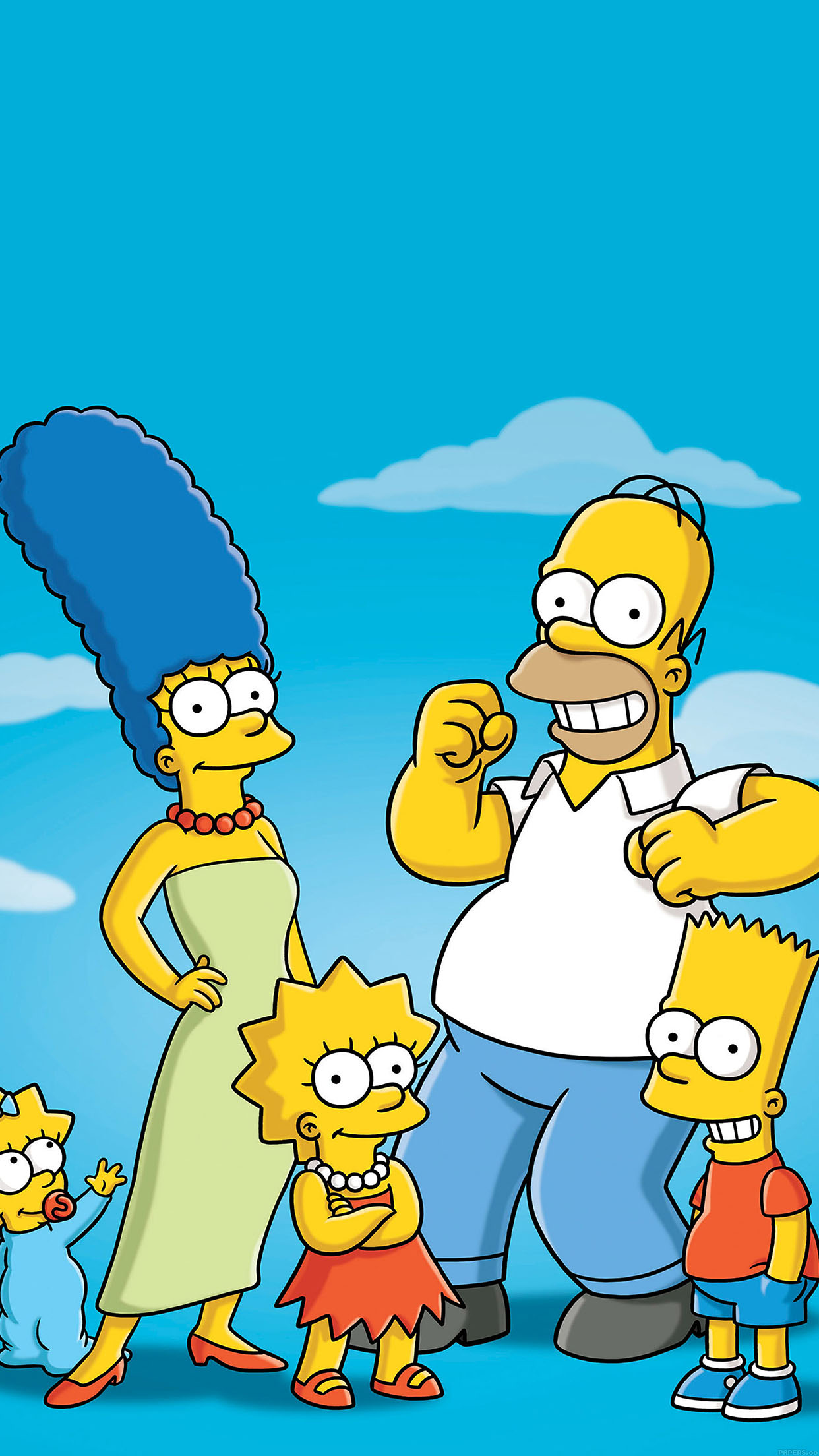 simpsons family 3Wallpapers iPhone Parallax Simspons Family