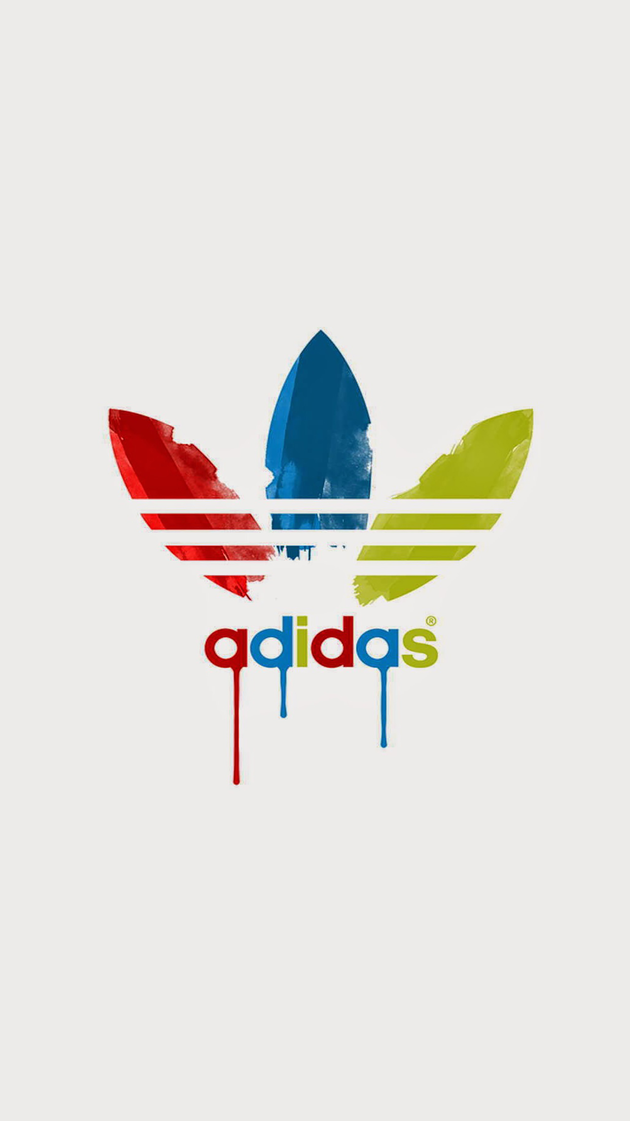 Adidas Logo Painted Wallpaper For Iphone X 8 7 6 Free Download