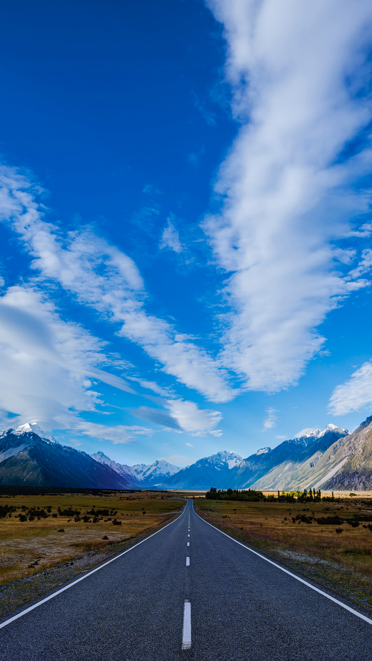 new-zealand road wallpaper for iphone x  8  7  6