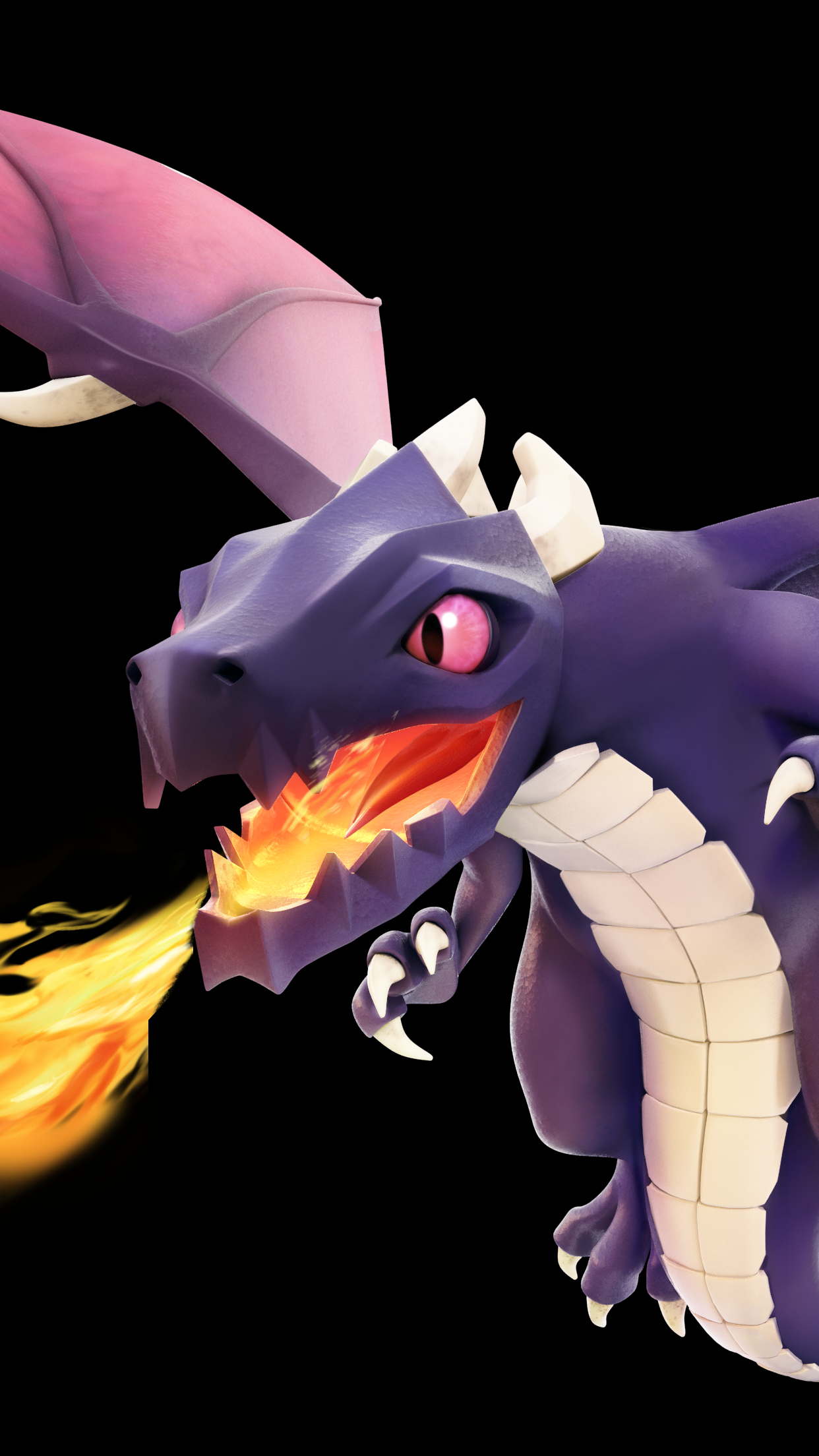 Clash Of Clans Dragon Wallpaper For Iphone X 8 7 6 Free