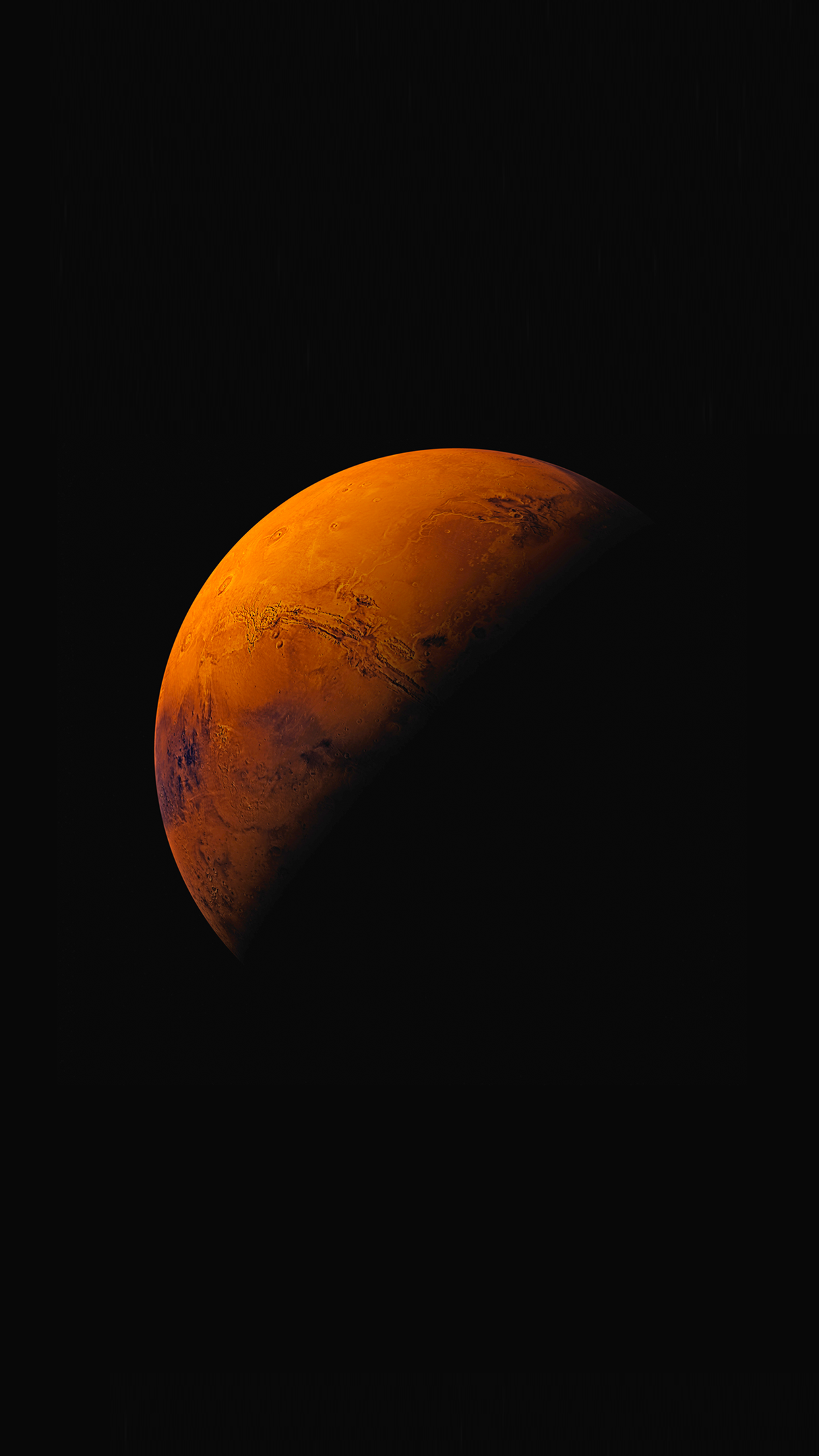 ios 9 planete mars 3Wallpapers iPhone Parallax iOS 9 Planet Mars