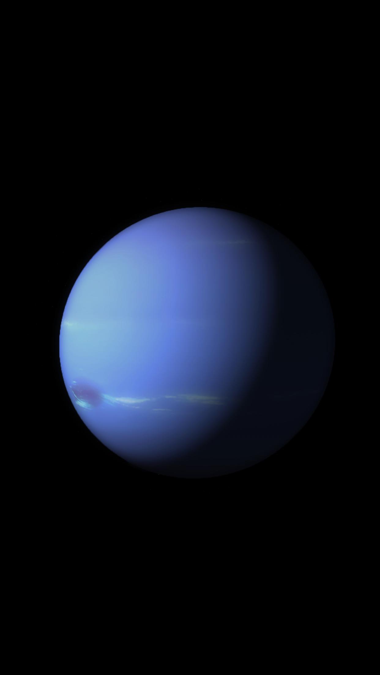 ios 9 planete neptune 3Wallpapers iPhone Parallax iOS 9 Planet Neptune