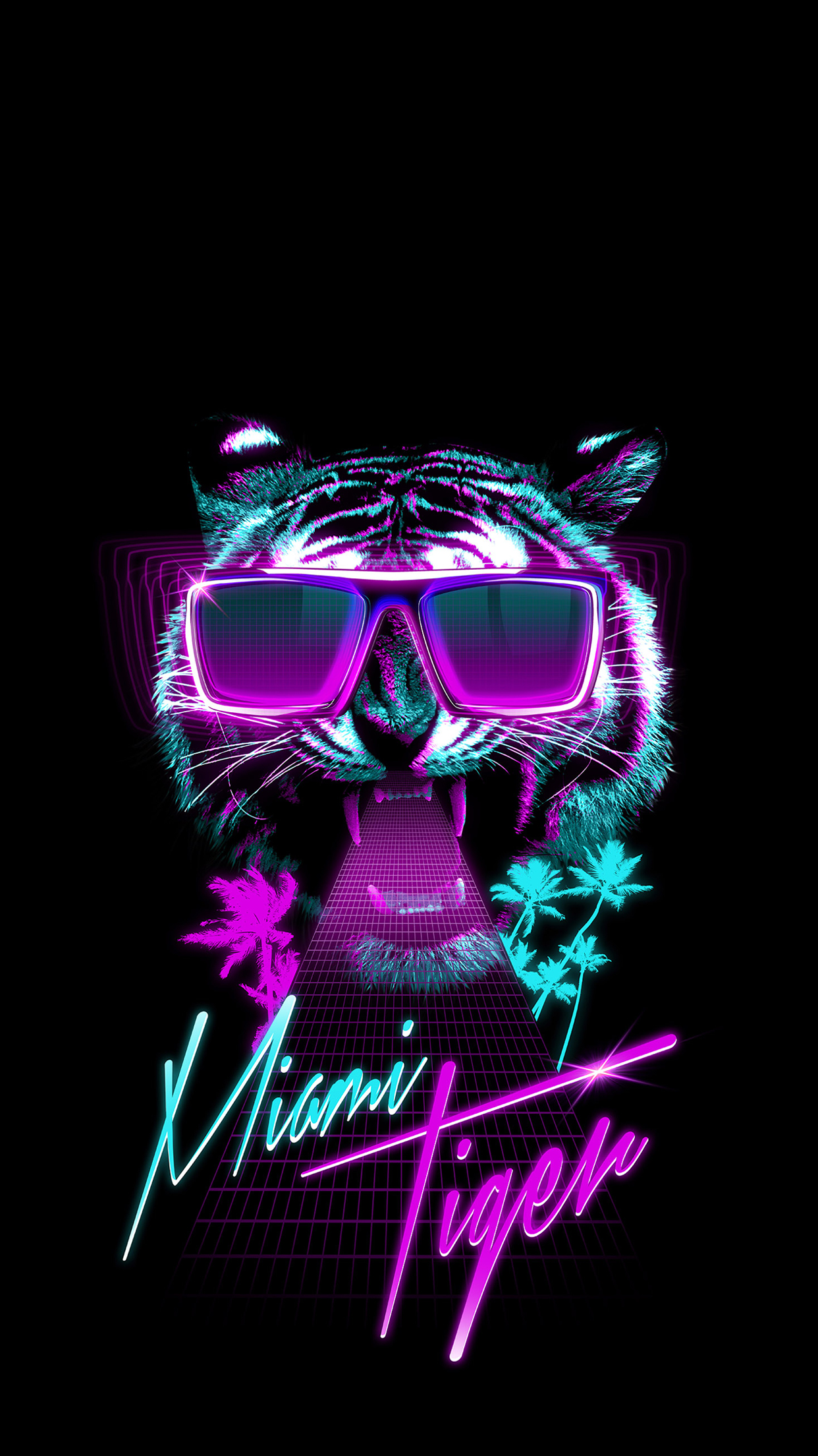 Miami Tiger Wallpaper For Iphone X 8 7 6 Free Download
