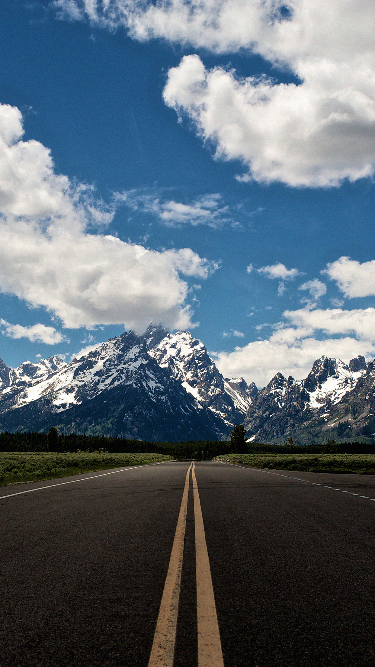 montagne autoroute 3Wallpapers iPhone Parallax Mountains Highway