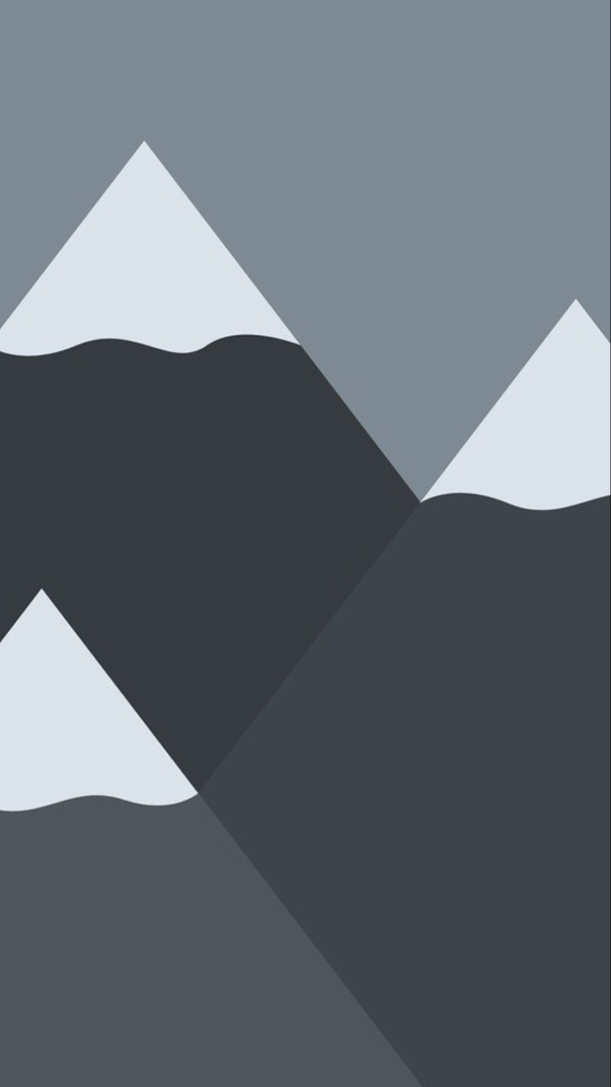Mountains Minimalist Wallpaper for iPhone X, 8, 7, 6 ...