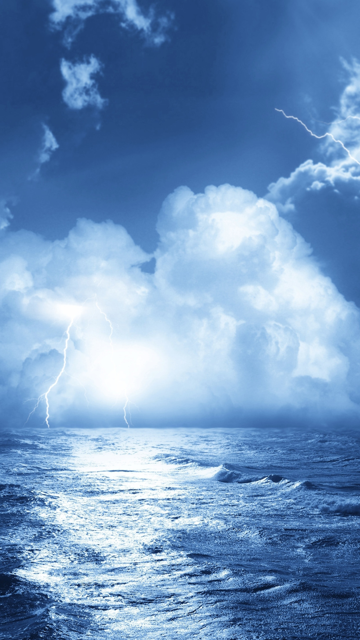 storm mer 3Wallpapers iPhone Parallax Storm Sea