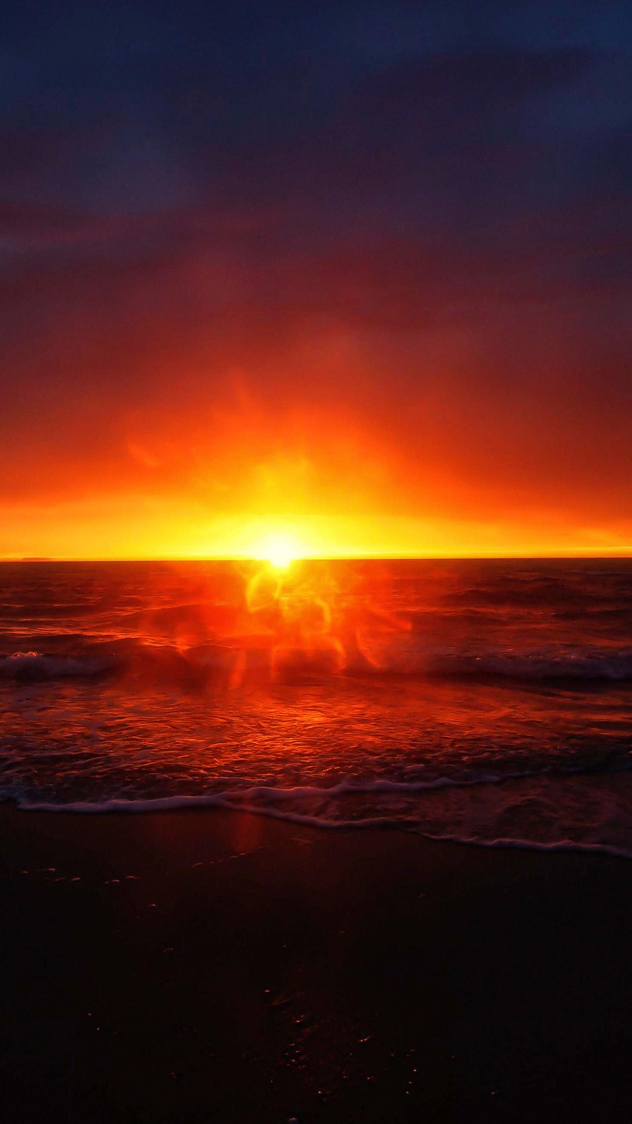sunset 1 3Wallpapers iPhone Parallax Sunset (3)