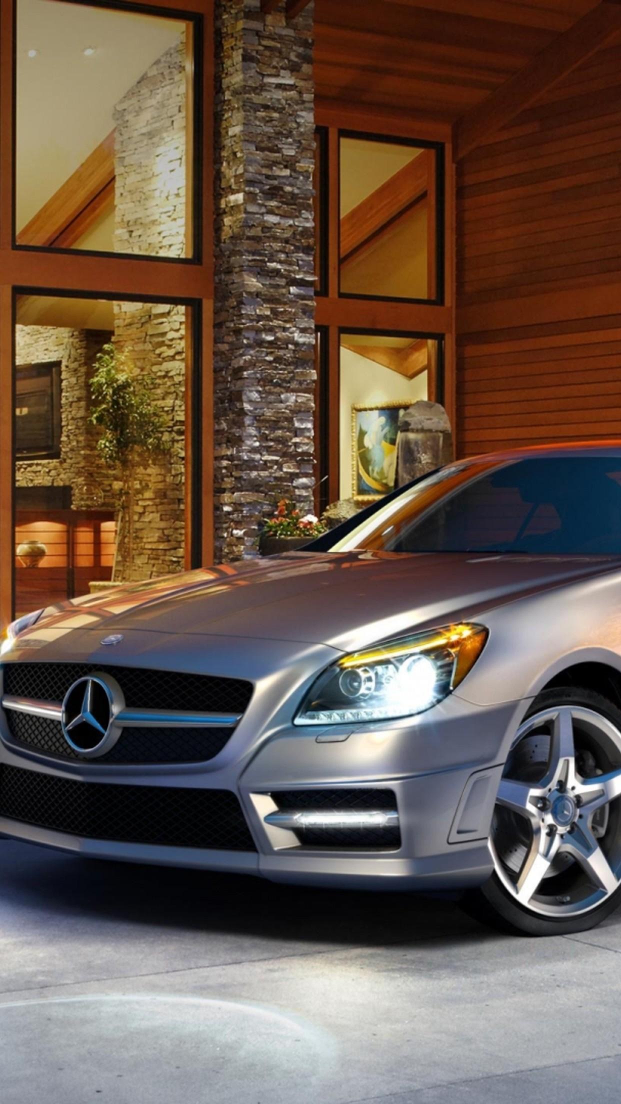 car mercedes SLK 3Wallpapers iPhone Parallax Car Mercedes SLK