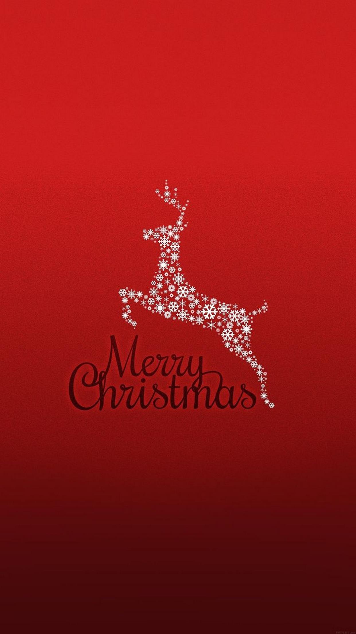 christmas deer 3Wallpapers iPhone Parallax Christmas Deer