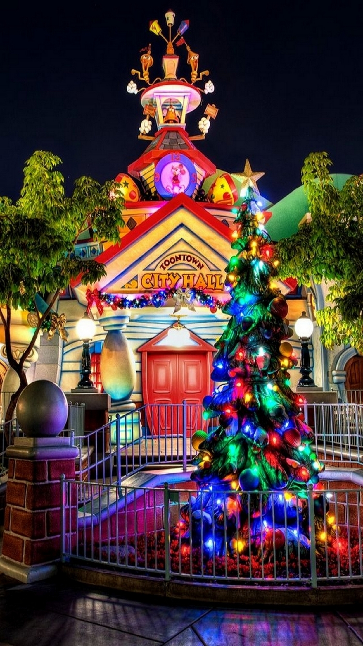 christmas toontown 3Wallpapers iPhone Parallax Christmas Toontown