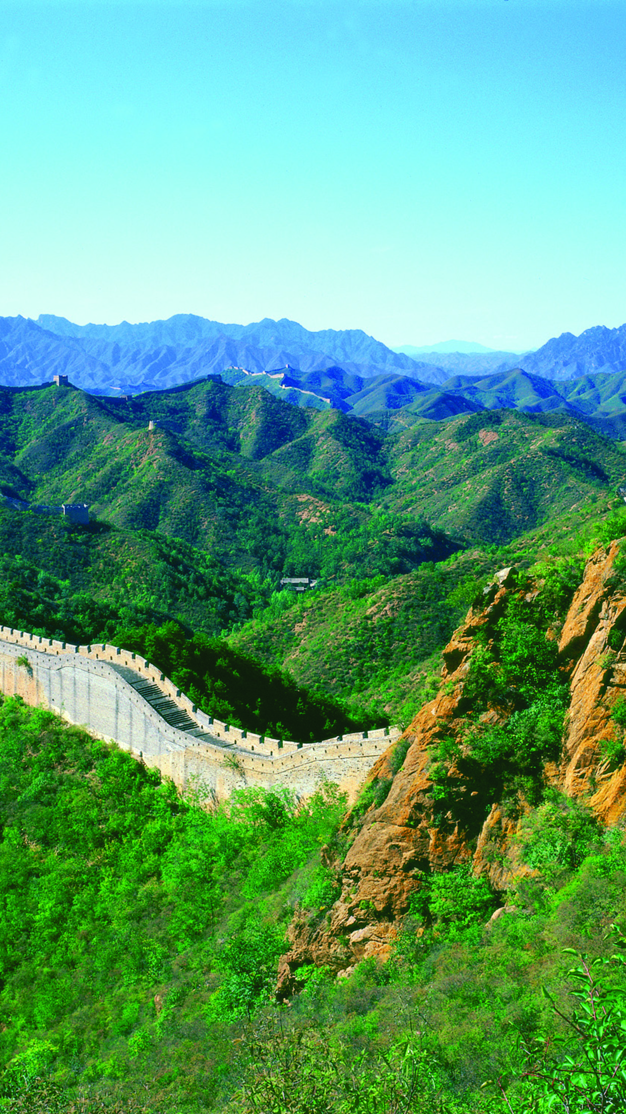 landscape Great Wall of China 3Wallpapers iPhone Parallax Landscape Great Wall Of China