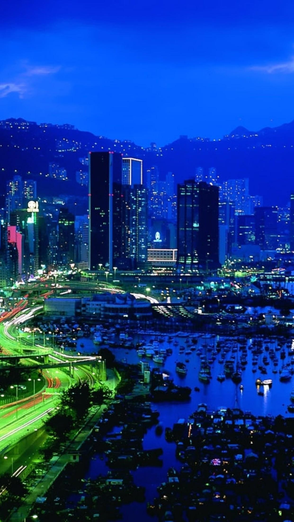 landscape city 3Wallpapers iPhone Parallax Landscape City