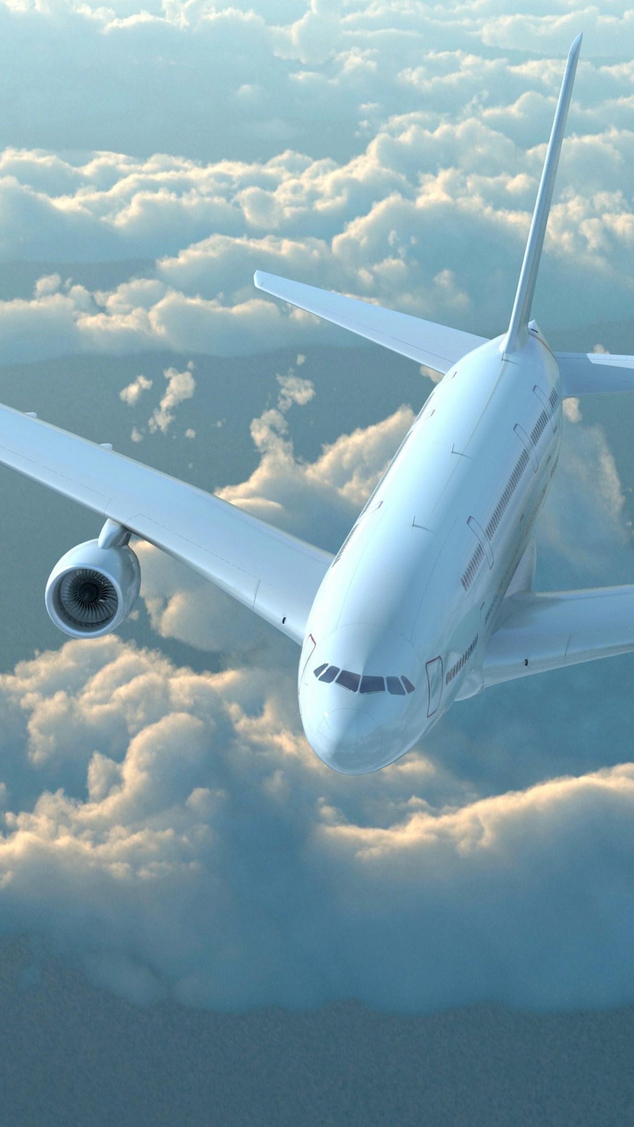 plane sky 3Wallpapers iPhone Parallax Plane Sky