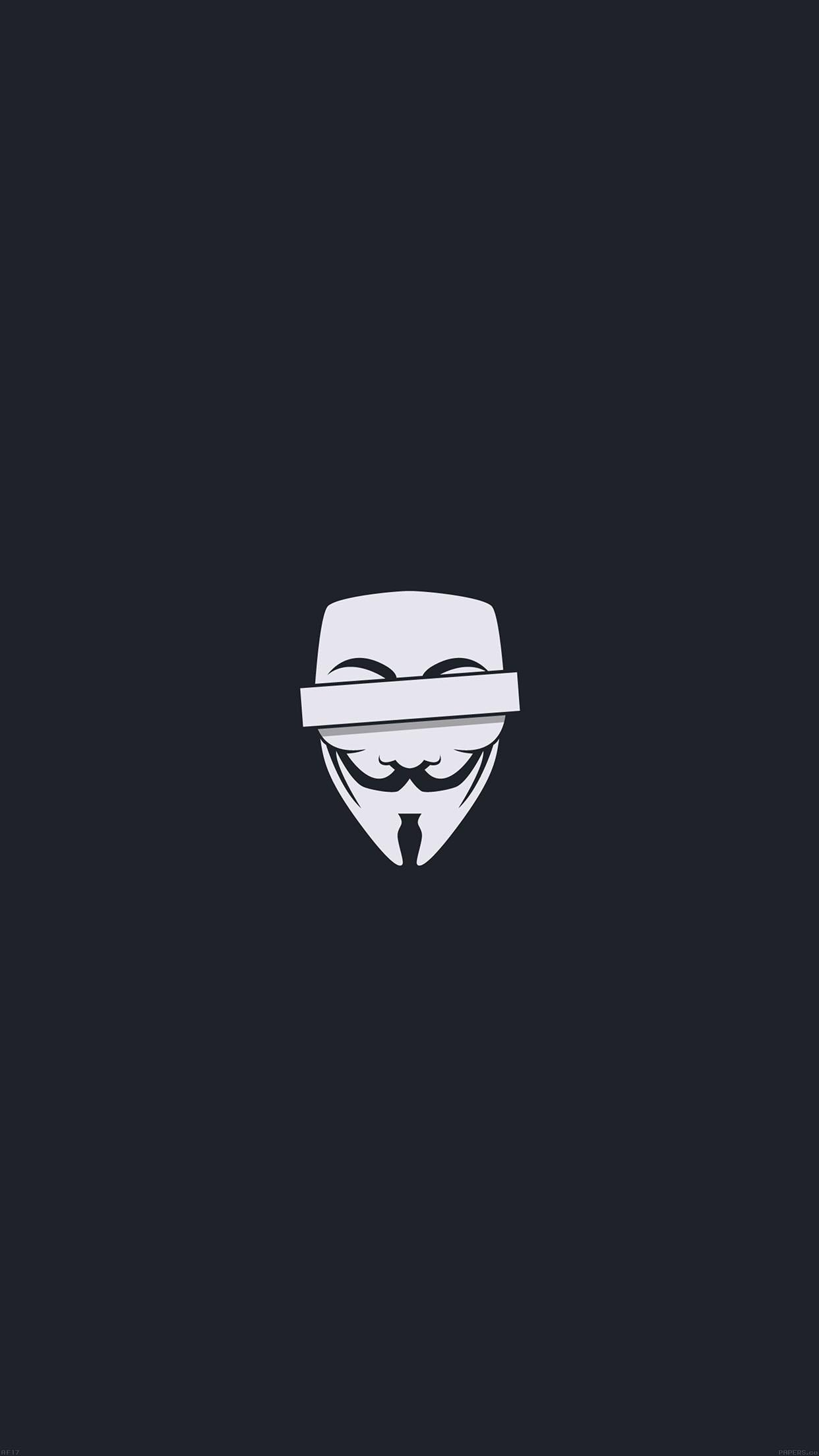 anonymous mask 3Wallpapers iPhone Parallax Anonymous Mask