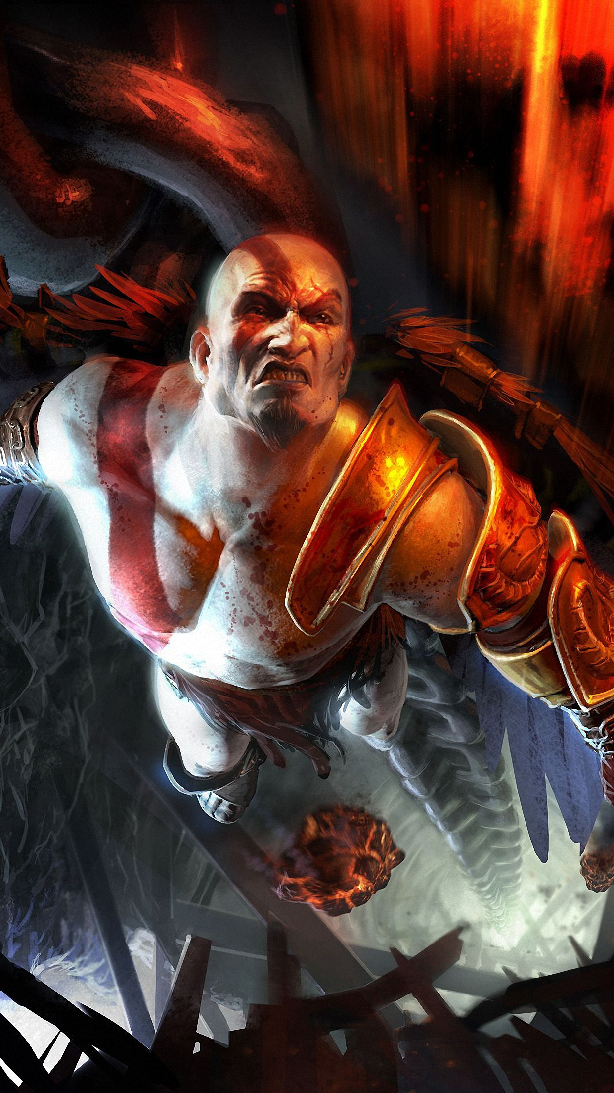 god of war kratos 2 3Wallpapers iPhone Parallax God Of War Kratos 2