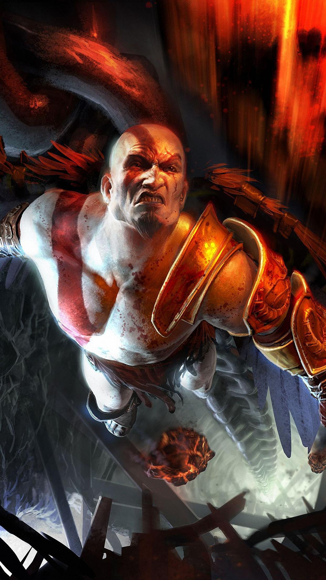 God Of War Kratos 2 Wallpaper For Iphone X 8 7 6 Free