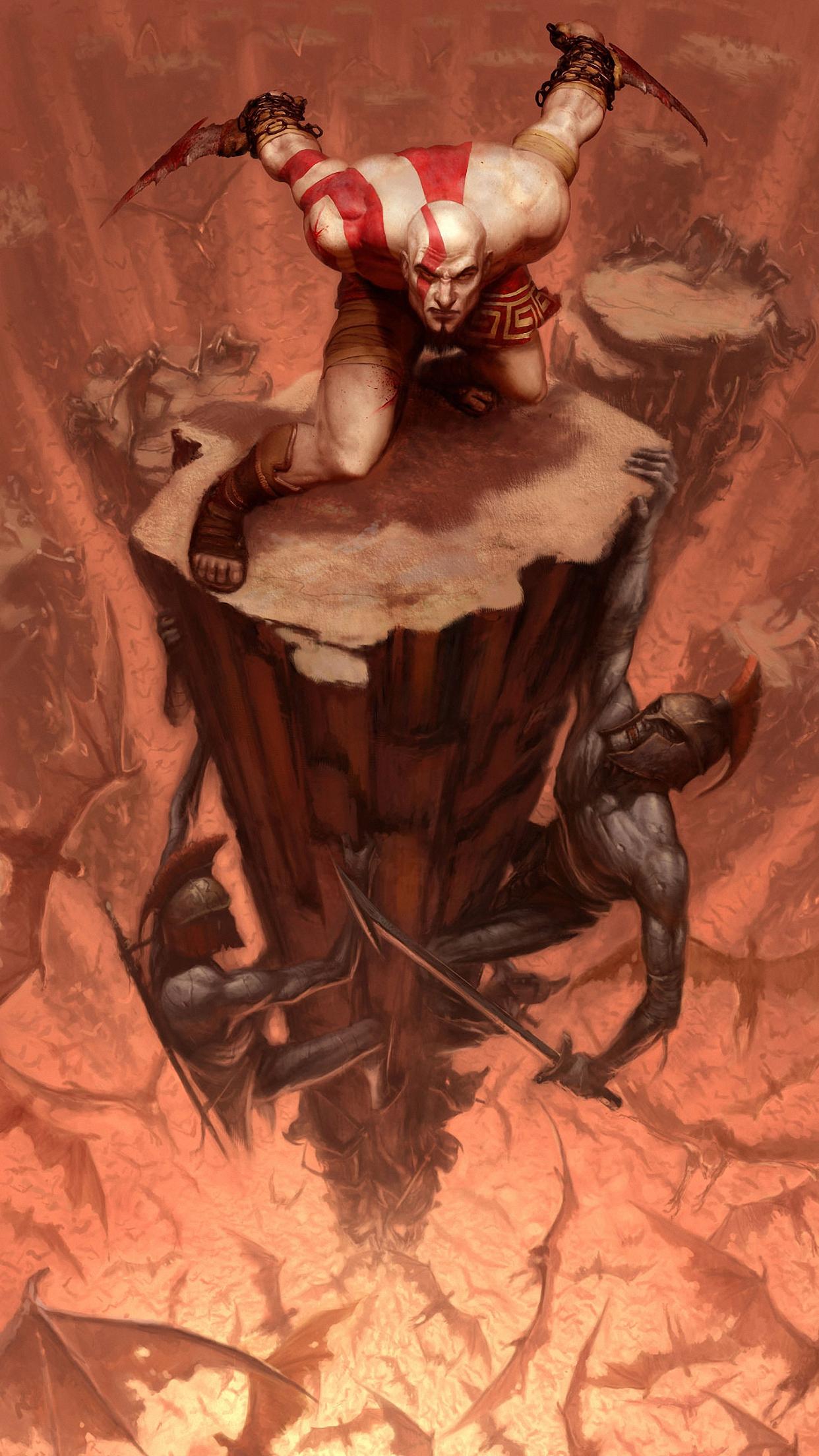 God Of War Kratos Wallpaper For Iphone X 8 7 6 Free