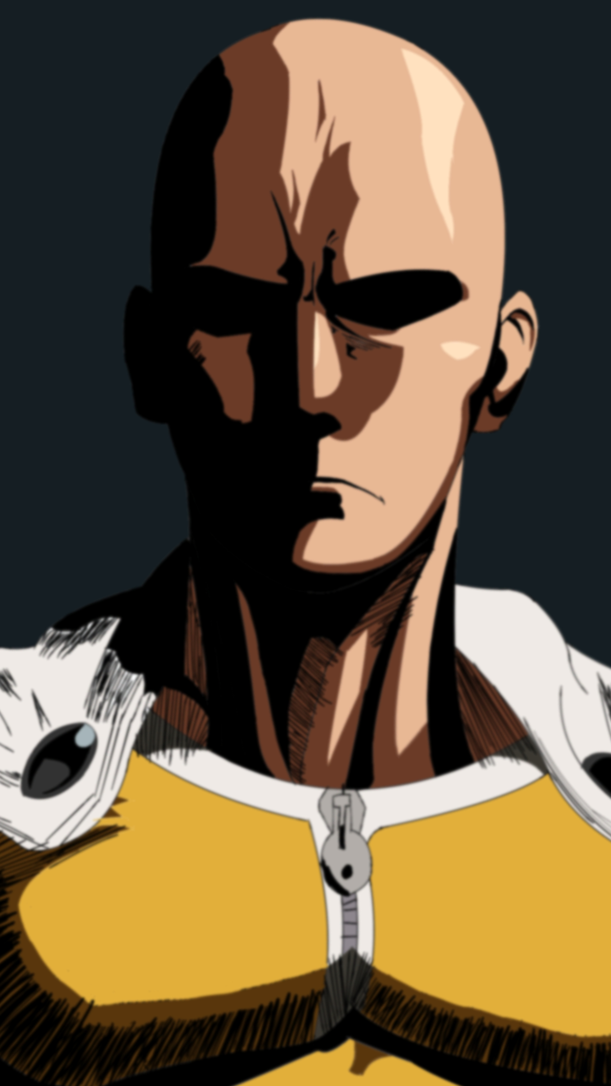 one punch man saitama 2 3wallpapers iphone parallax