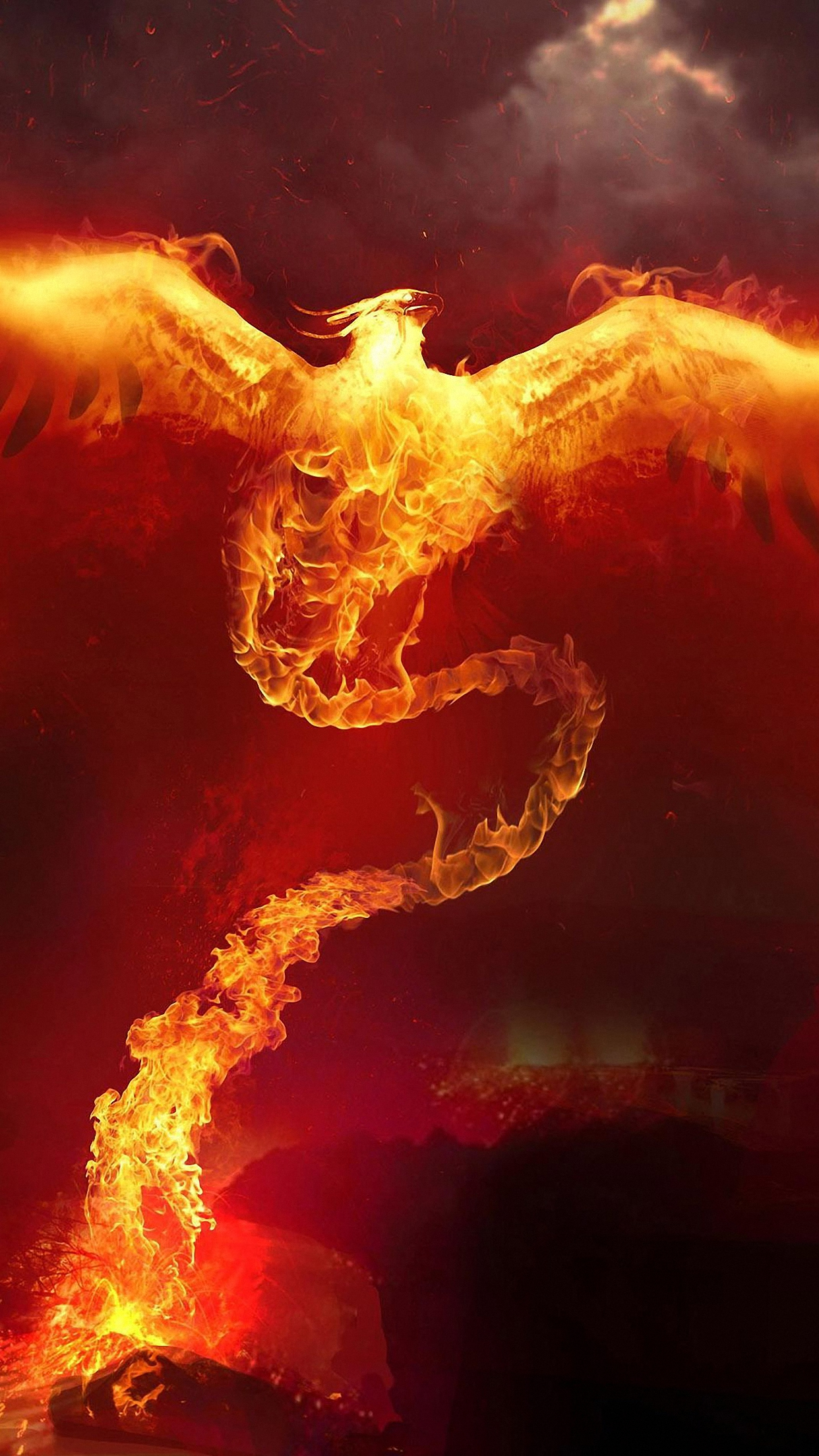 phoenix fire wallpaper for iphone x 8 7 6 free