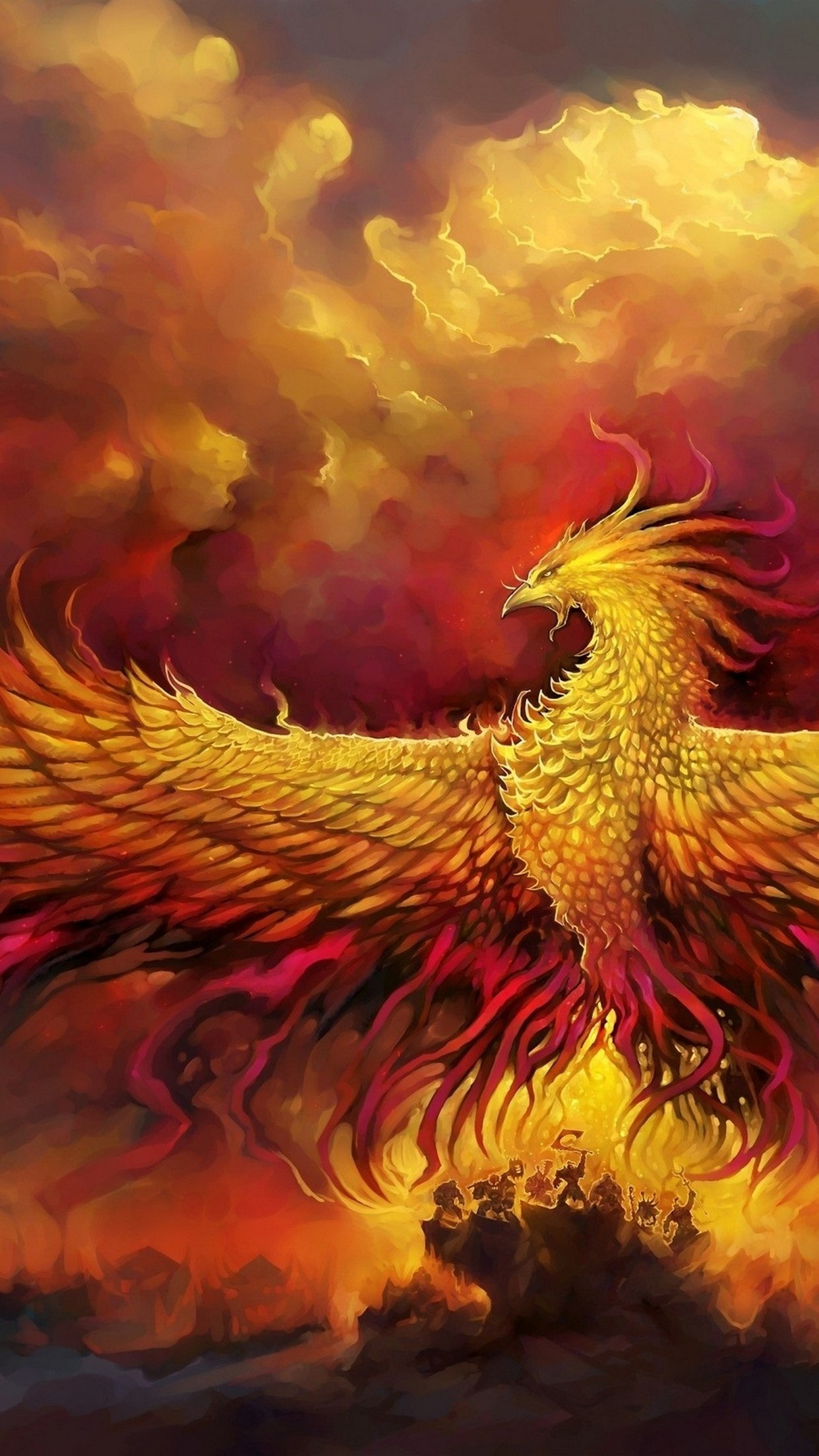 phoenix wings wallpaper for iphone x 8 7 6 free