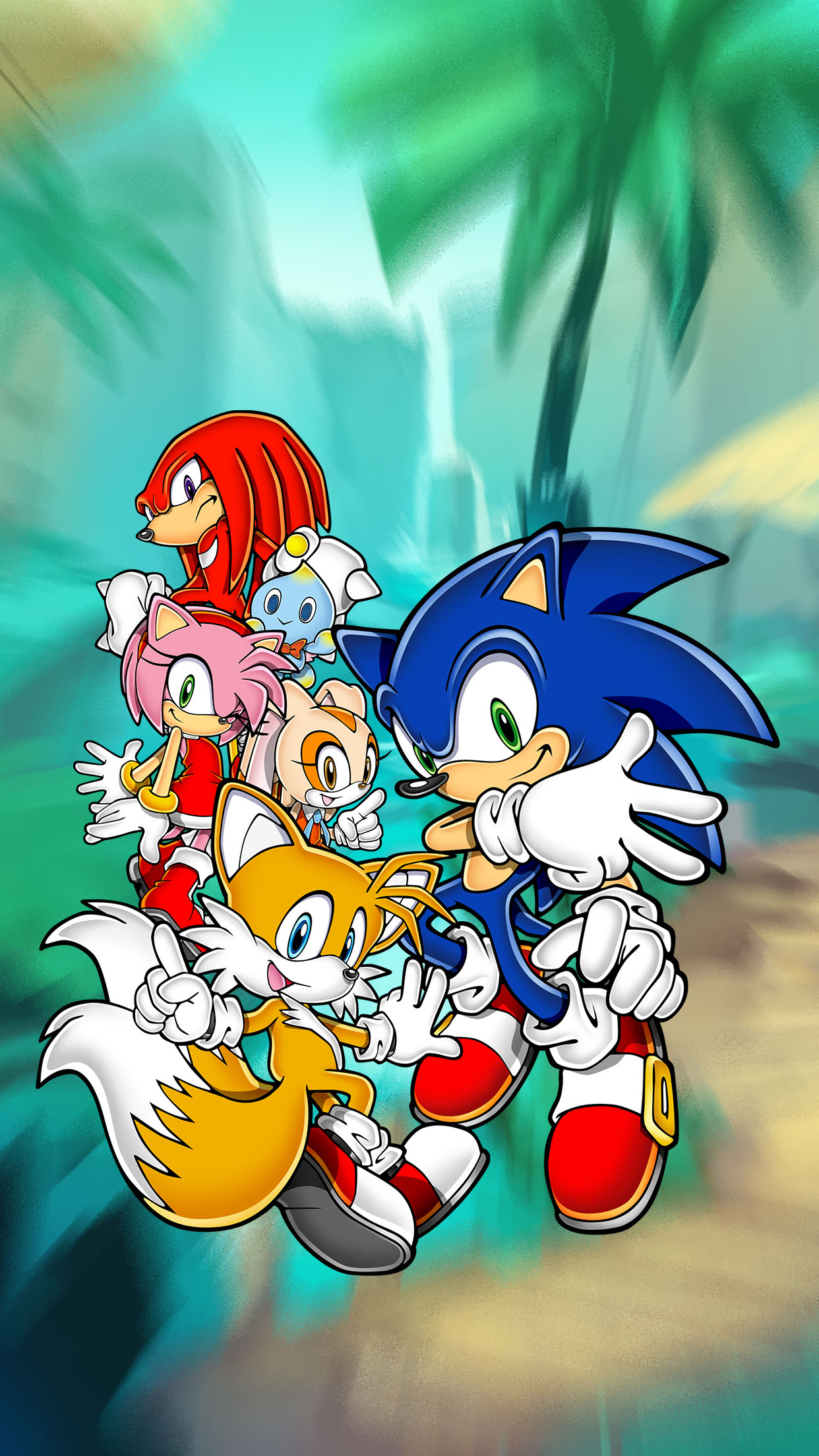 sonic team 3Wallpapers iPhone Parallax Sonic Team
