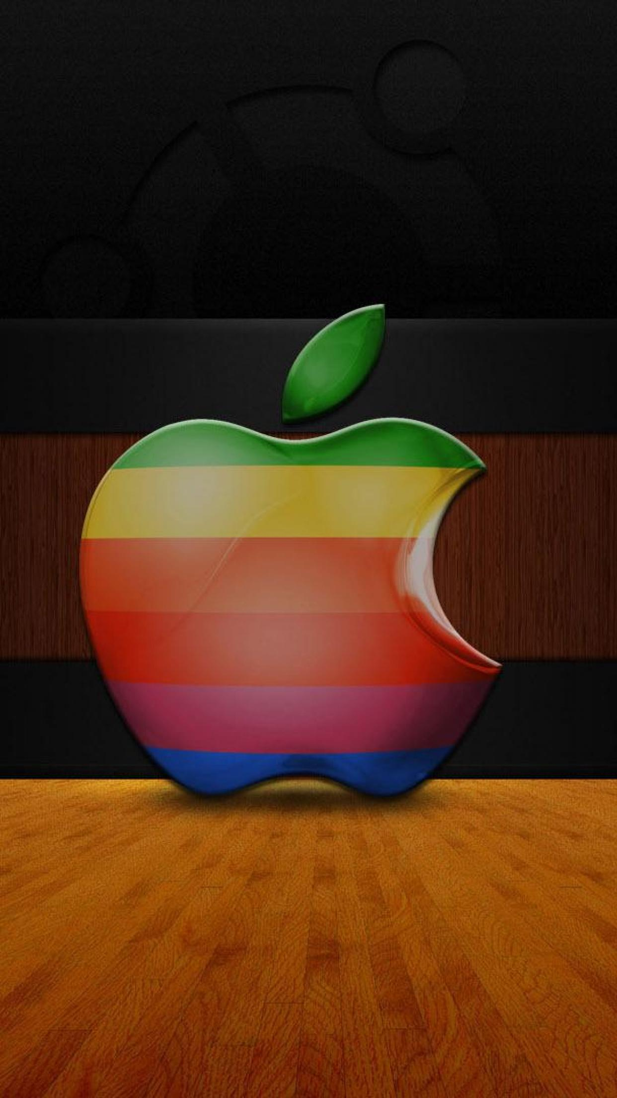 apple logo 3d 3Wallpapers iPhone
