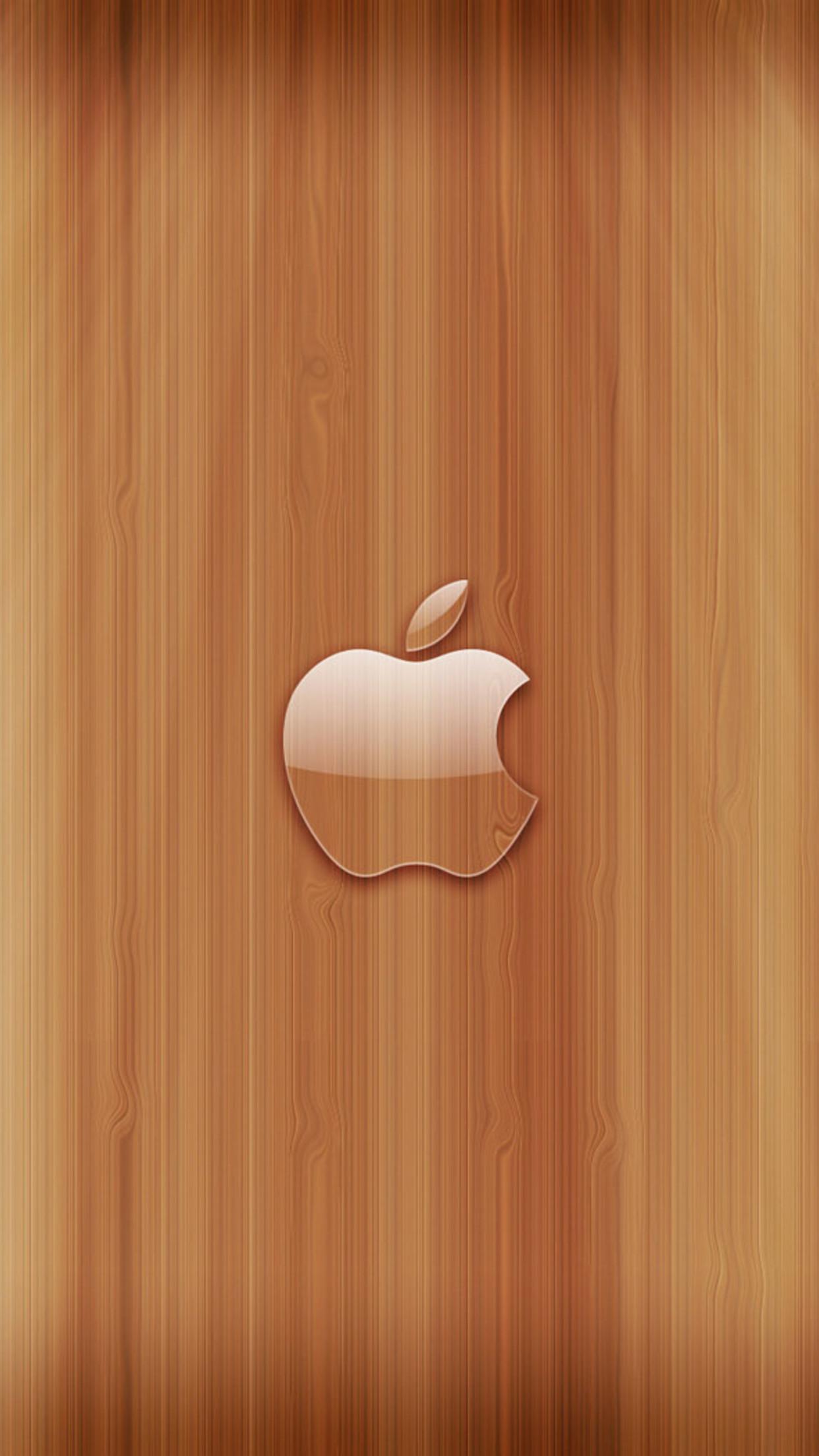 wallpaper hd iphone apple logo wood free download