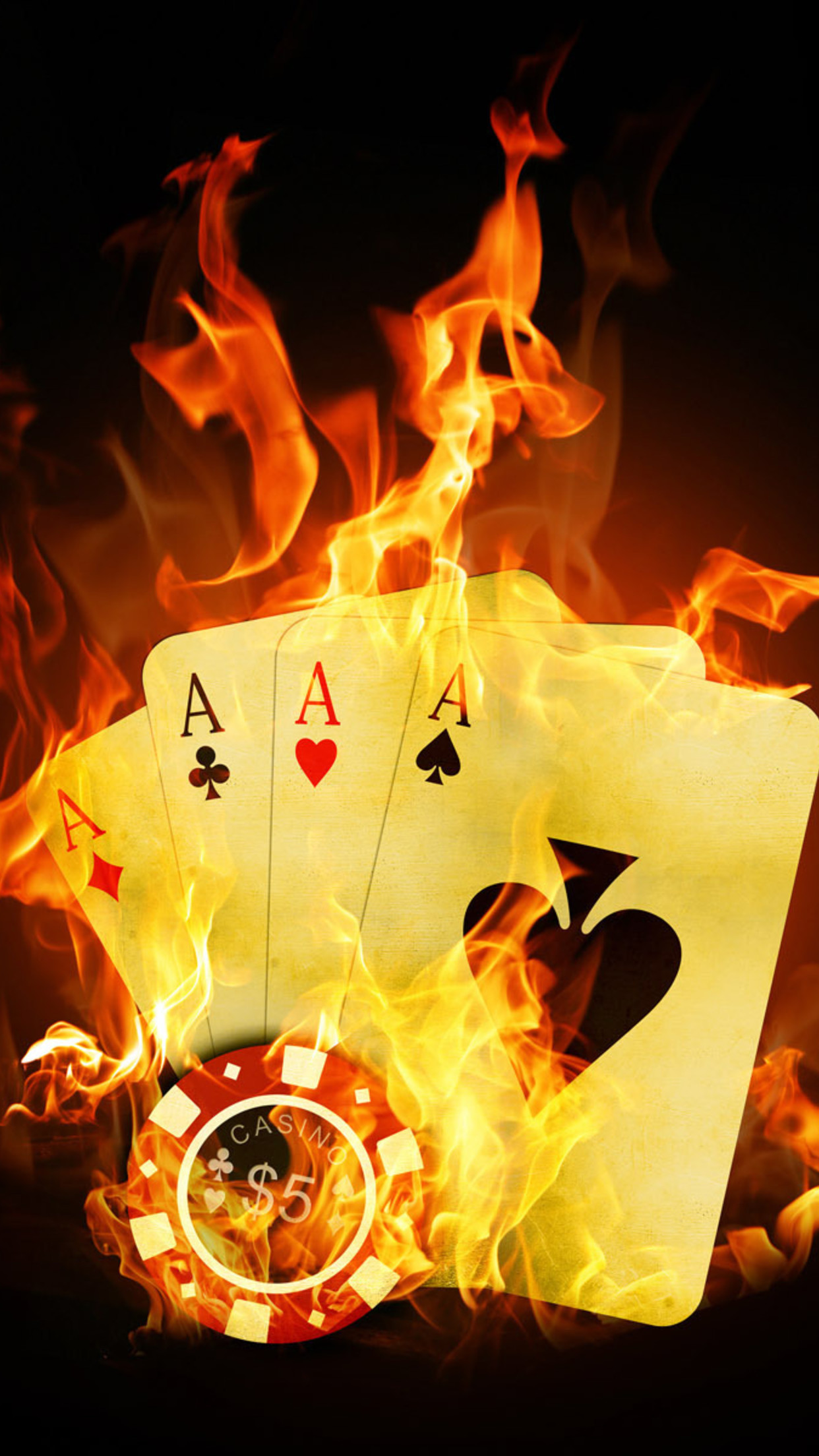 Card Fire Wallpaper For Iphone X 8 7 6 Free Download