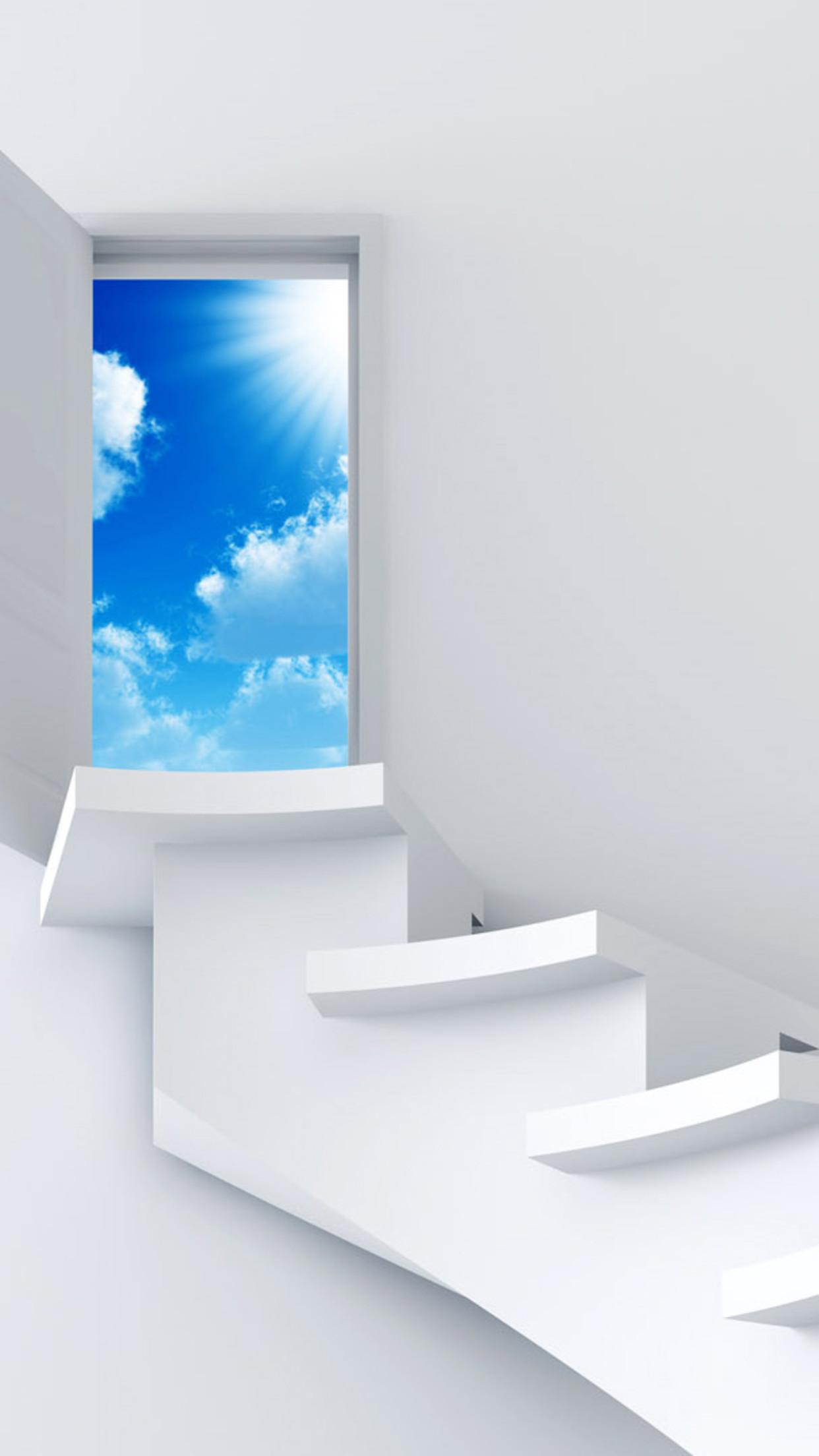 futur door 3Wallpapers iPhone Parallax Les 3Wallpapers iPhone du jour (17/02/2016)