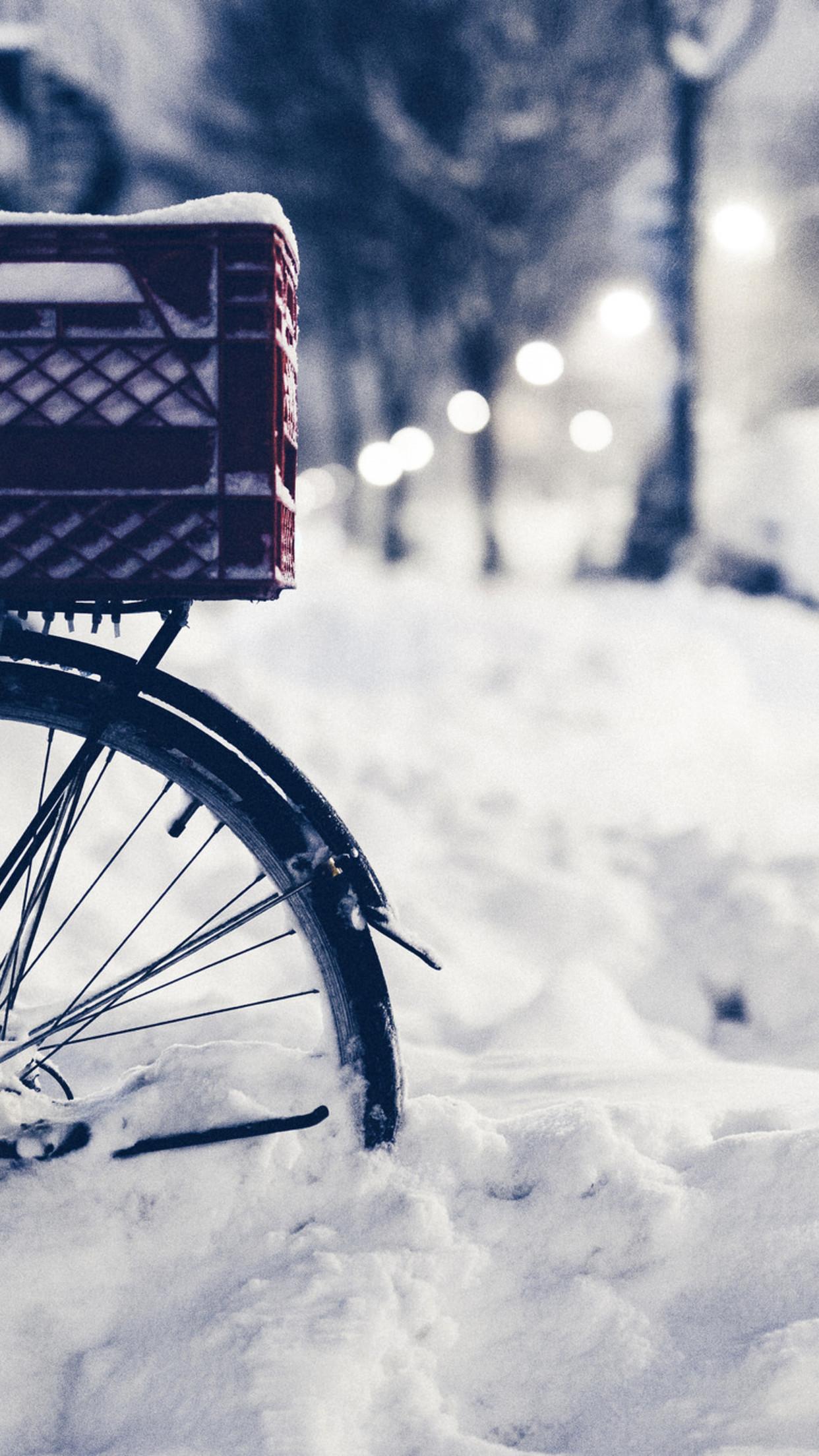 snow bike 3Wallpapers iPhone Parallax Les 3Wallpapers iPhone du jour (18/02/2016)