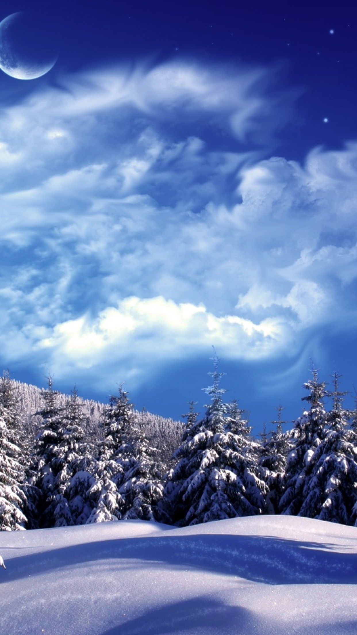 snow sky 3Wallpapers iPhone Parallax Les 3Wallpapers iPhone du jour (18/02/2016)